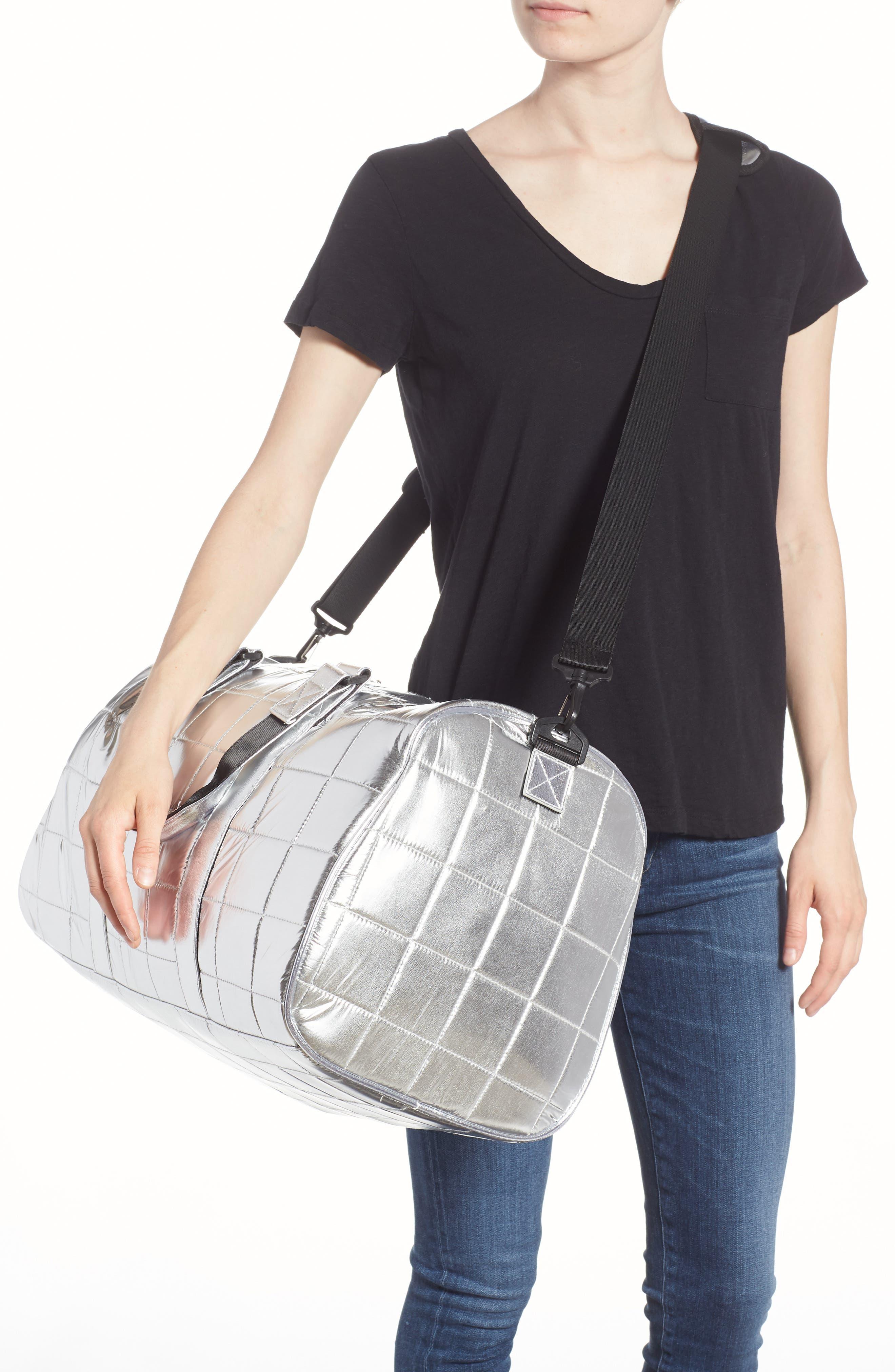 Puffer Duffel Bag,                             Alternate thumbnail 4, color,