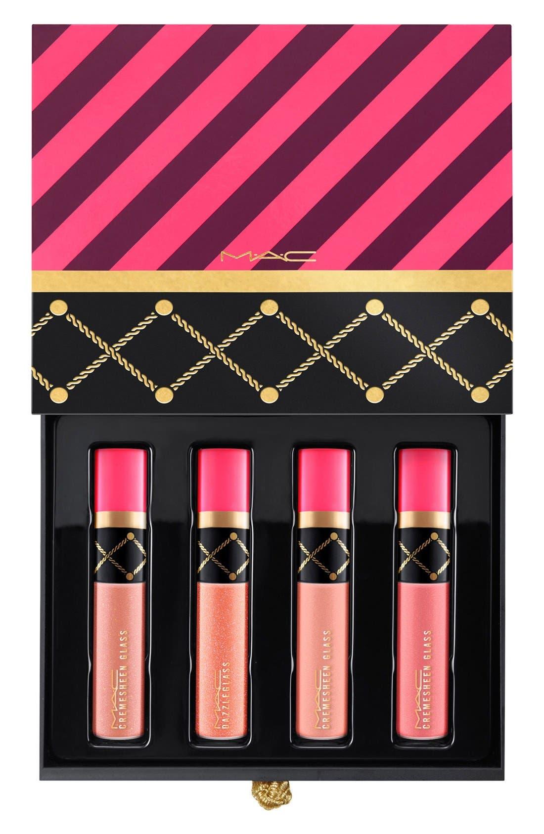 MAC Nutcracker Sweet Nude Mini Lip Gloss Kit,                             Alternate thumbnail 3, color,                             250