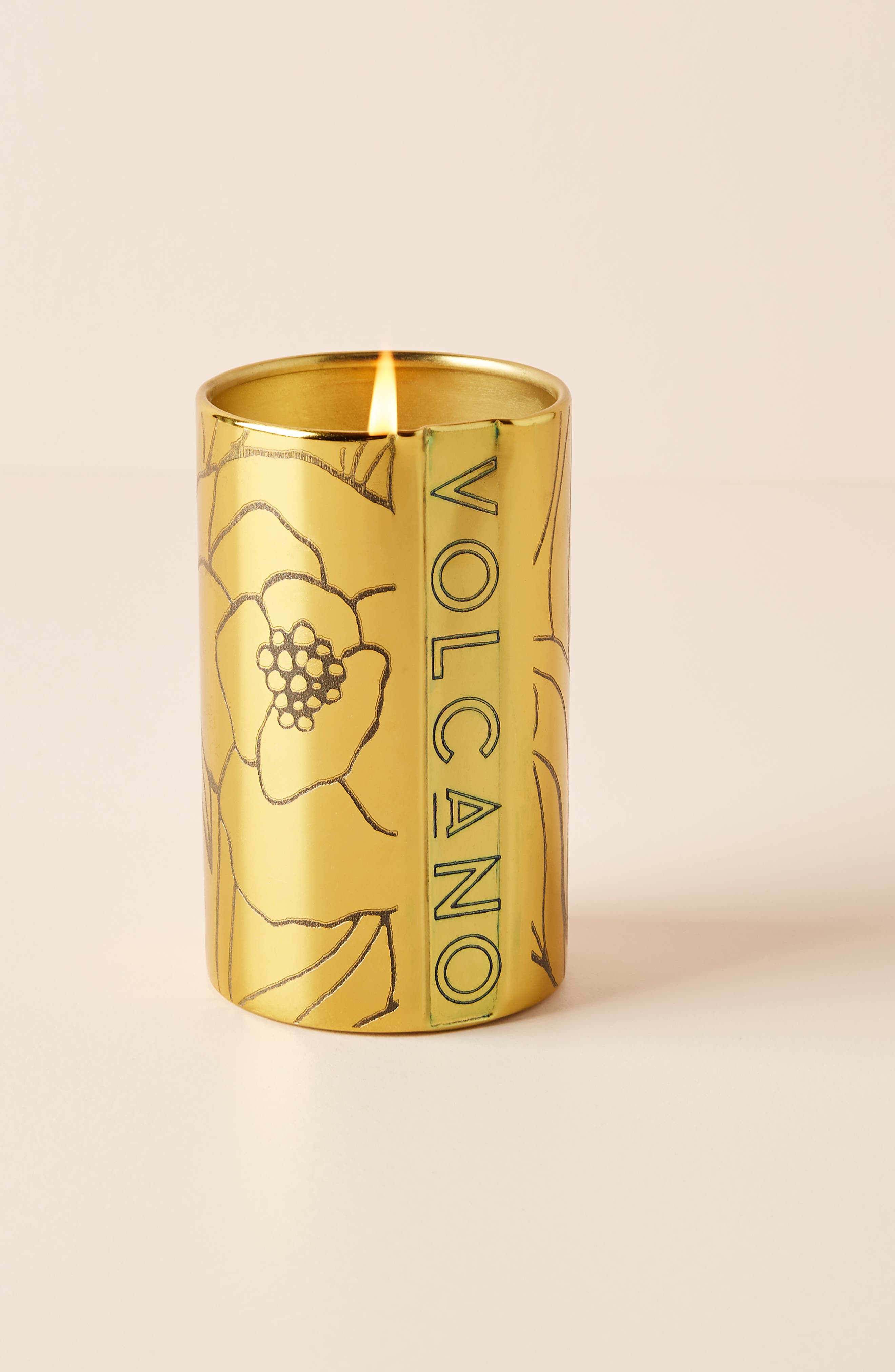 anthropologie volcano tall floral couture candle