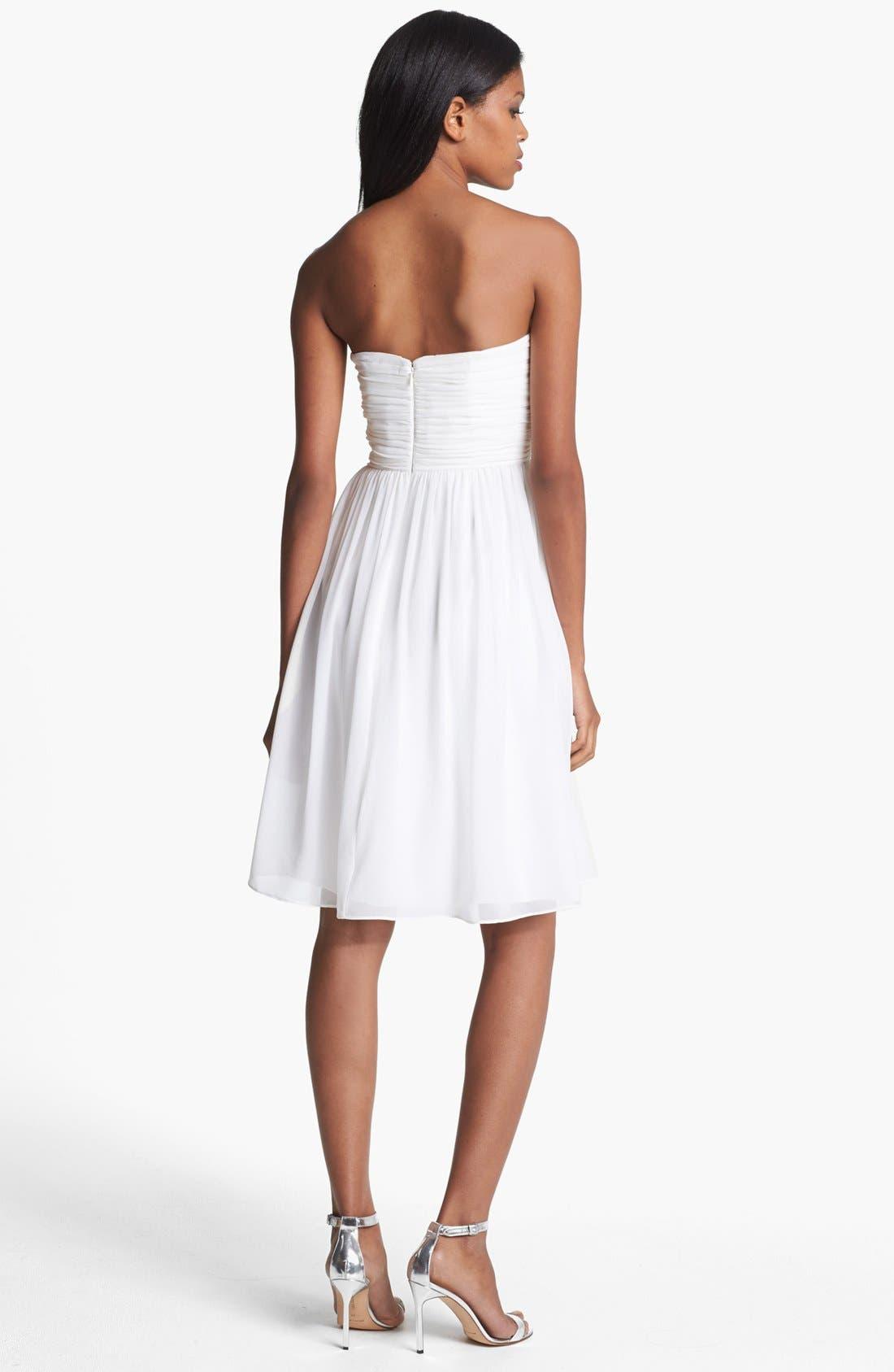 'Morgan' Strapless Silk Chiffon Dress,                             Alternate thumbnail 78, color,