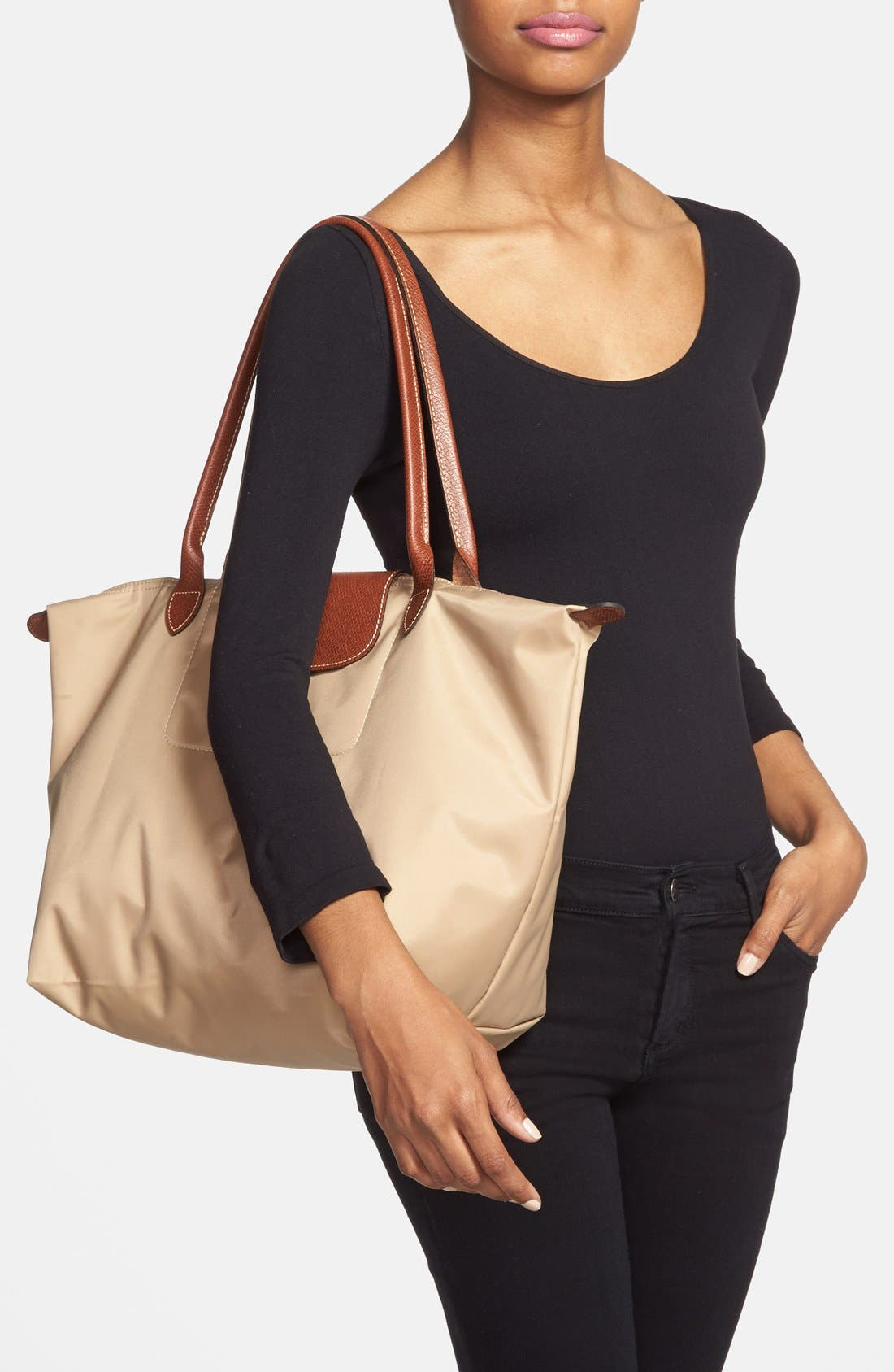 Large Le Pliage Tote,                             Alternate thumbnail 2, color,                             BEIGE