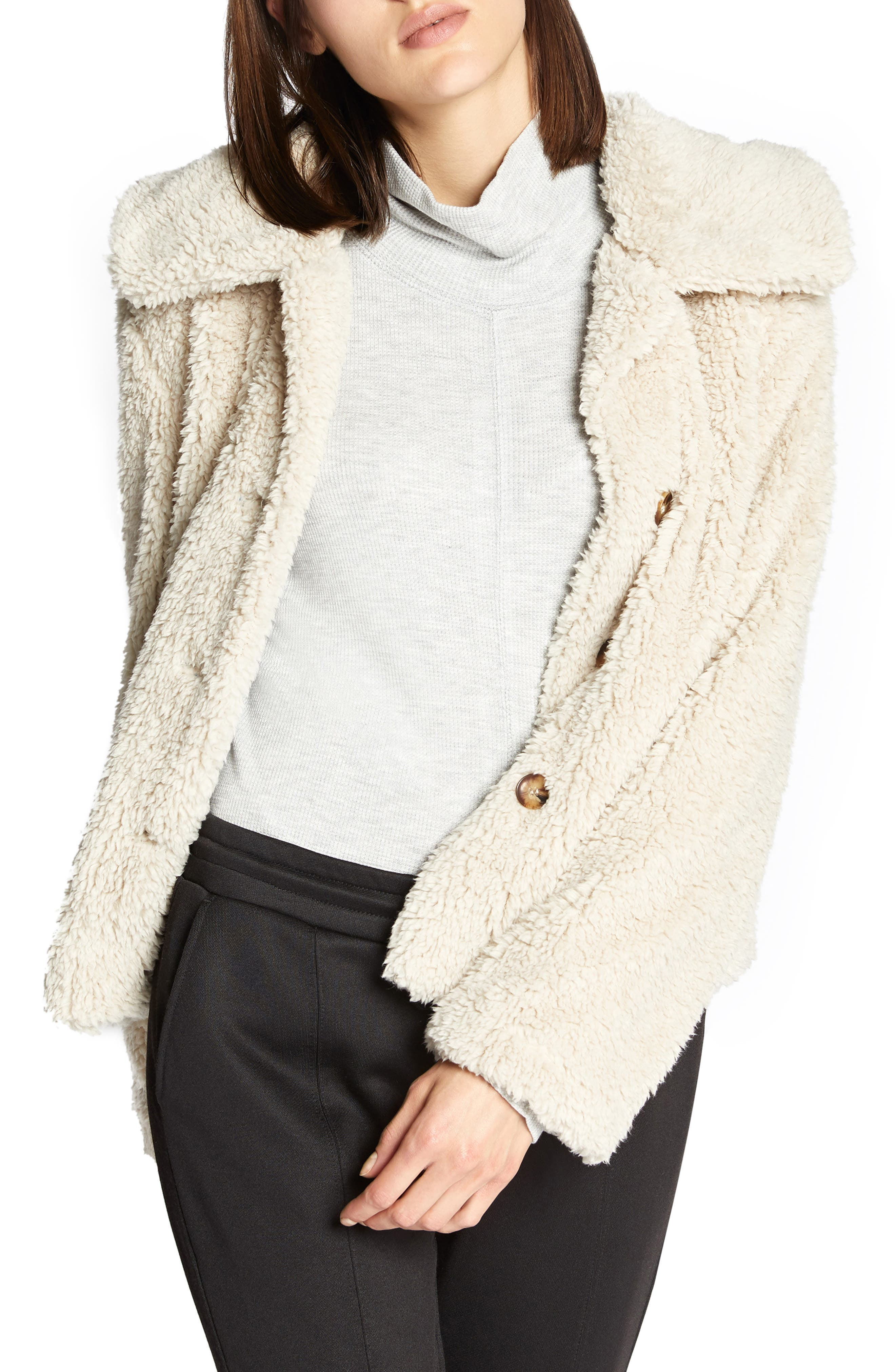 I Feel Luv Faux Fur Sherpa Jacket,                         Main,                         color, CHAMPAGNE