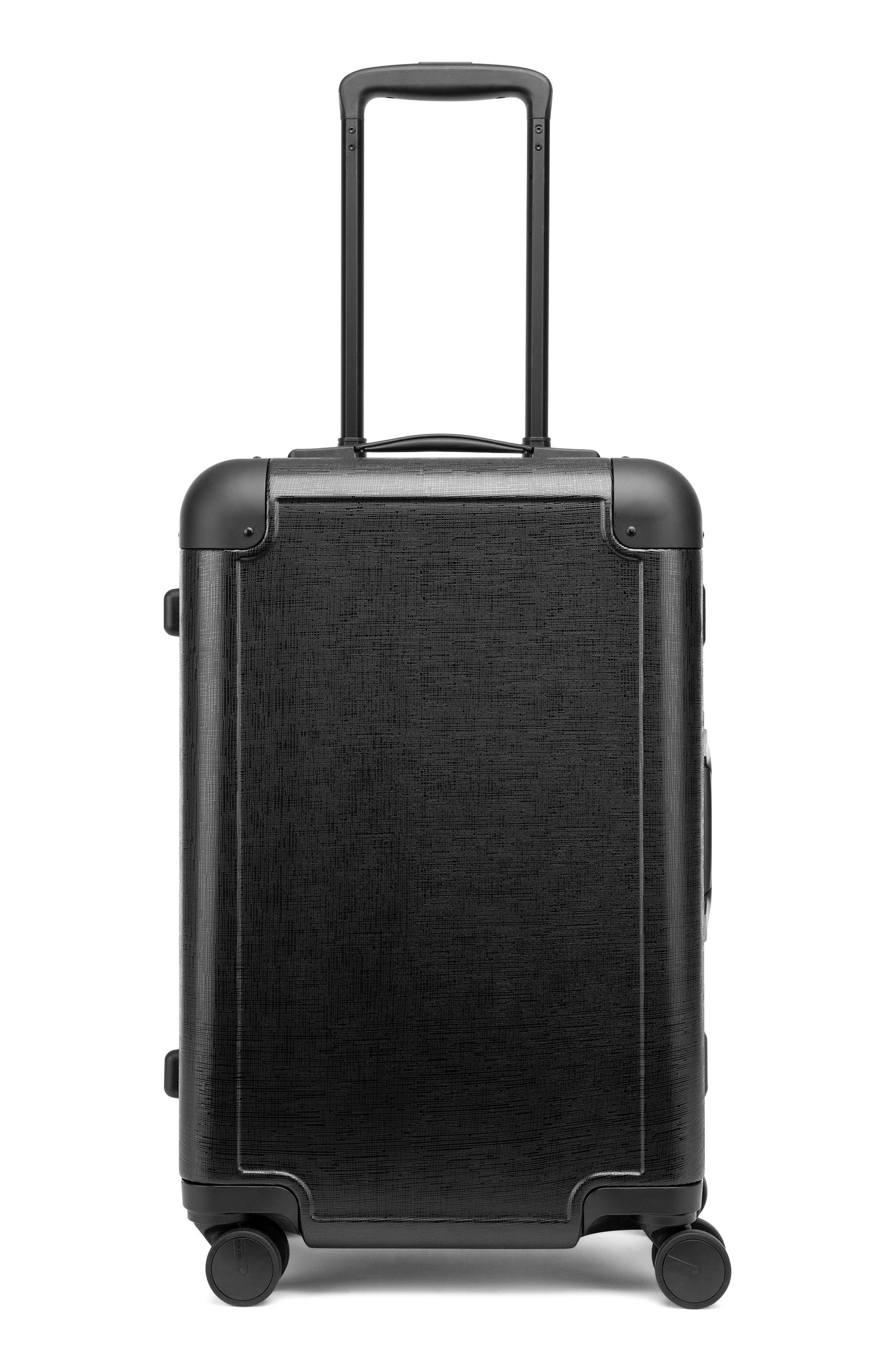 x Jen Atkin 22-Inch Carry-On Suitcase,                             Alternate thumbnail 8, color,                             BLACK