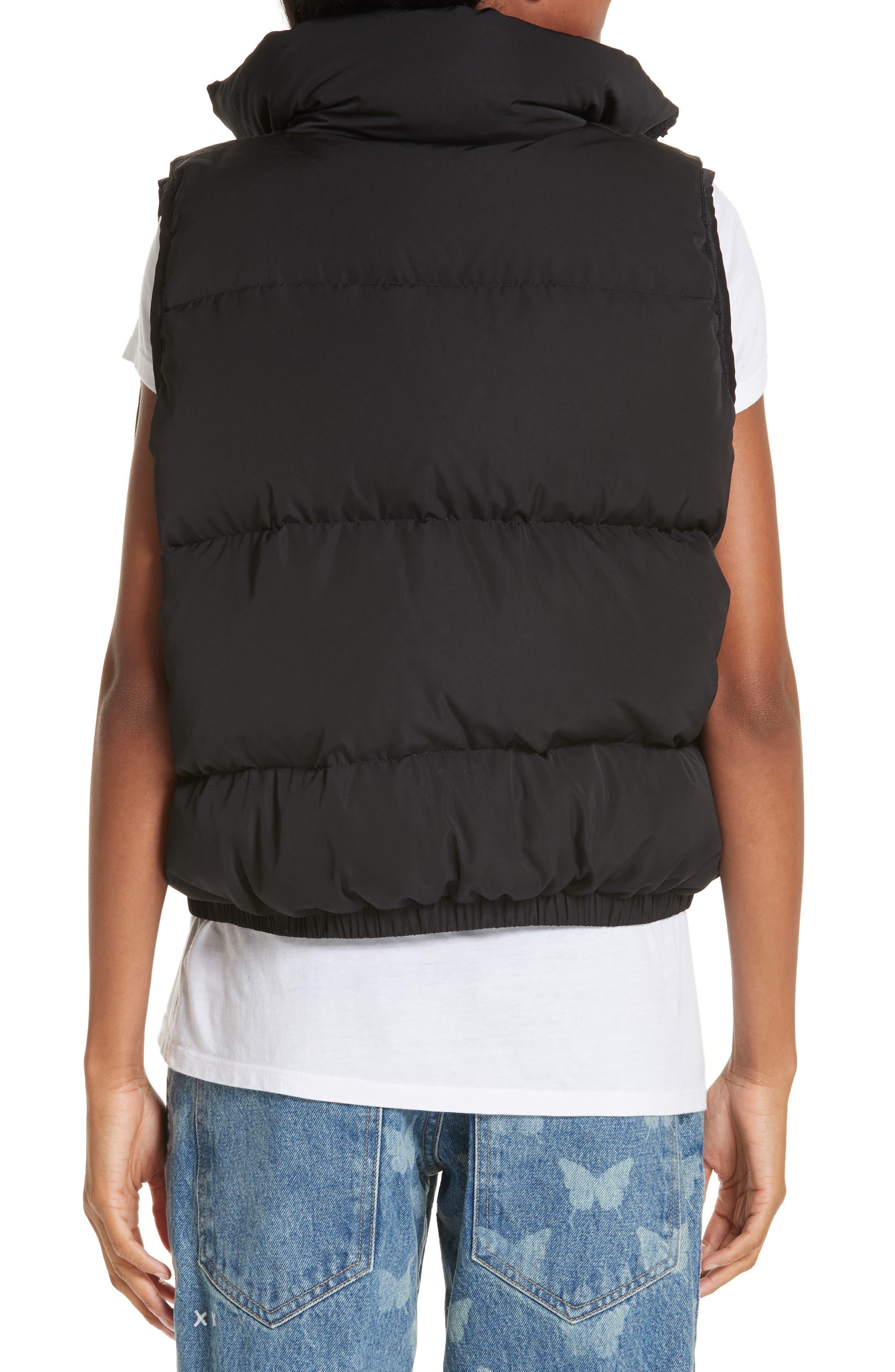 Primrose Down Puffer Vest,                             Alternate thumbnail 2, color,                             BLACK