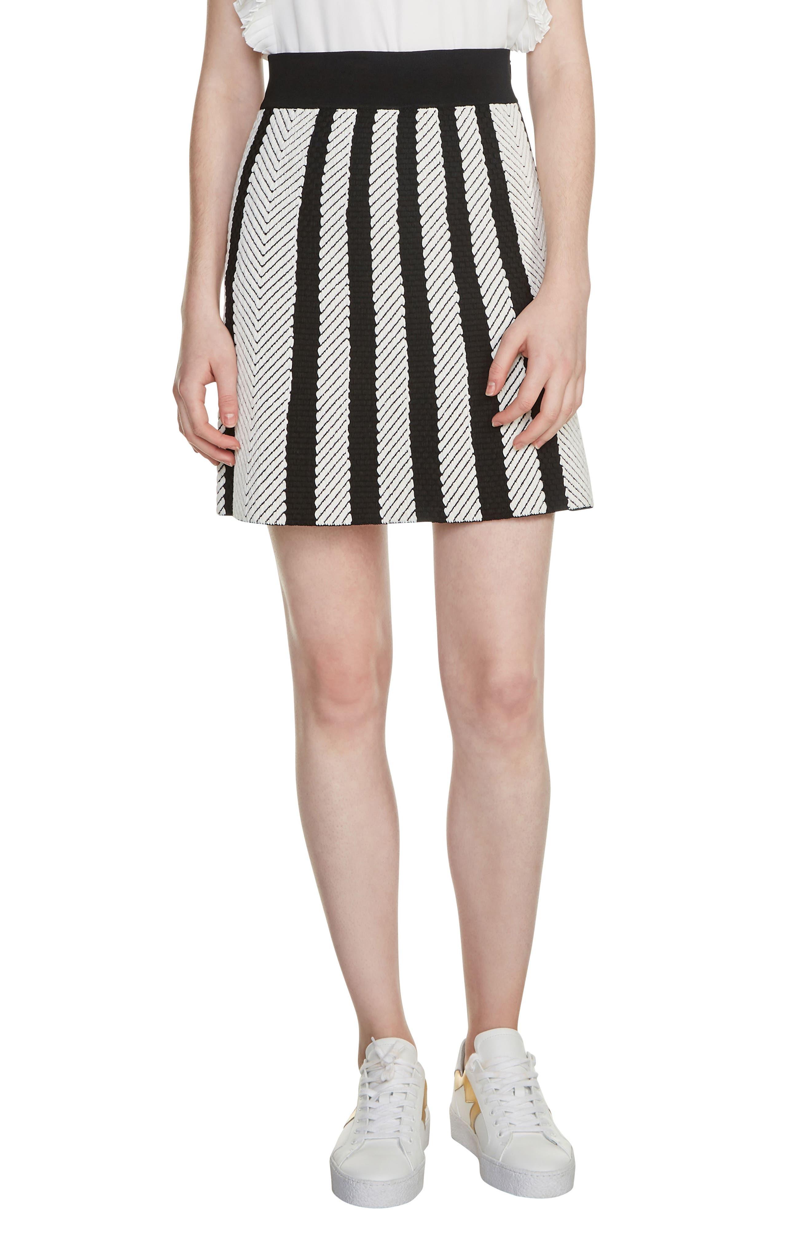 Jasper Stripe Jacquard Miniskirt,                         Main,                         color, 001