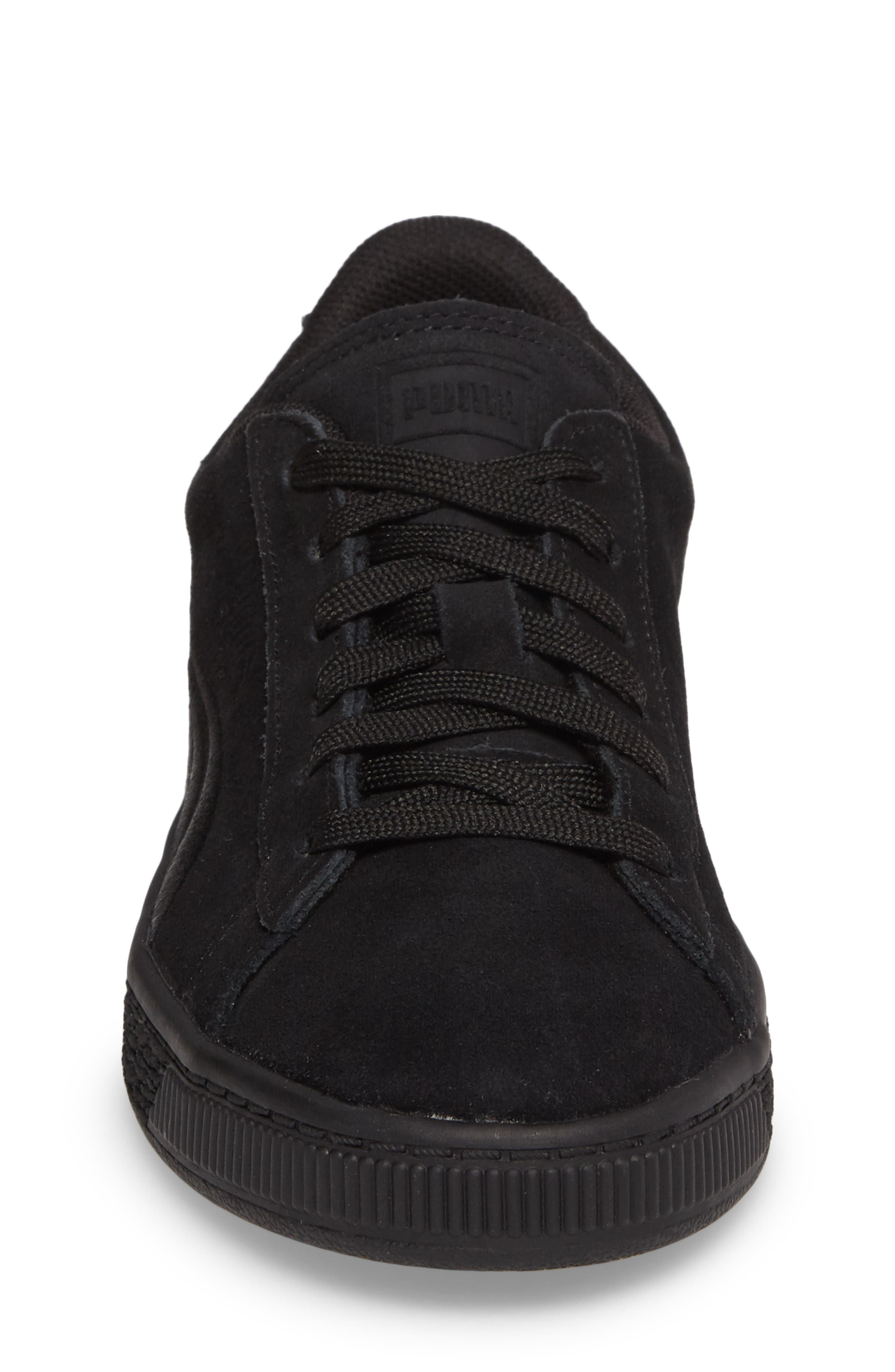 Suede Classic Badge PS Sneaker,                             Alternate thumbnail 4, color,                             001