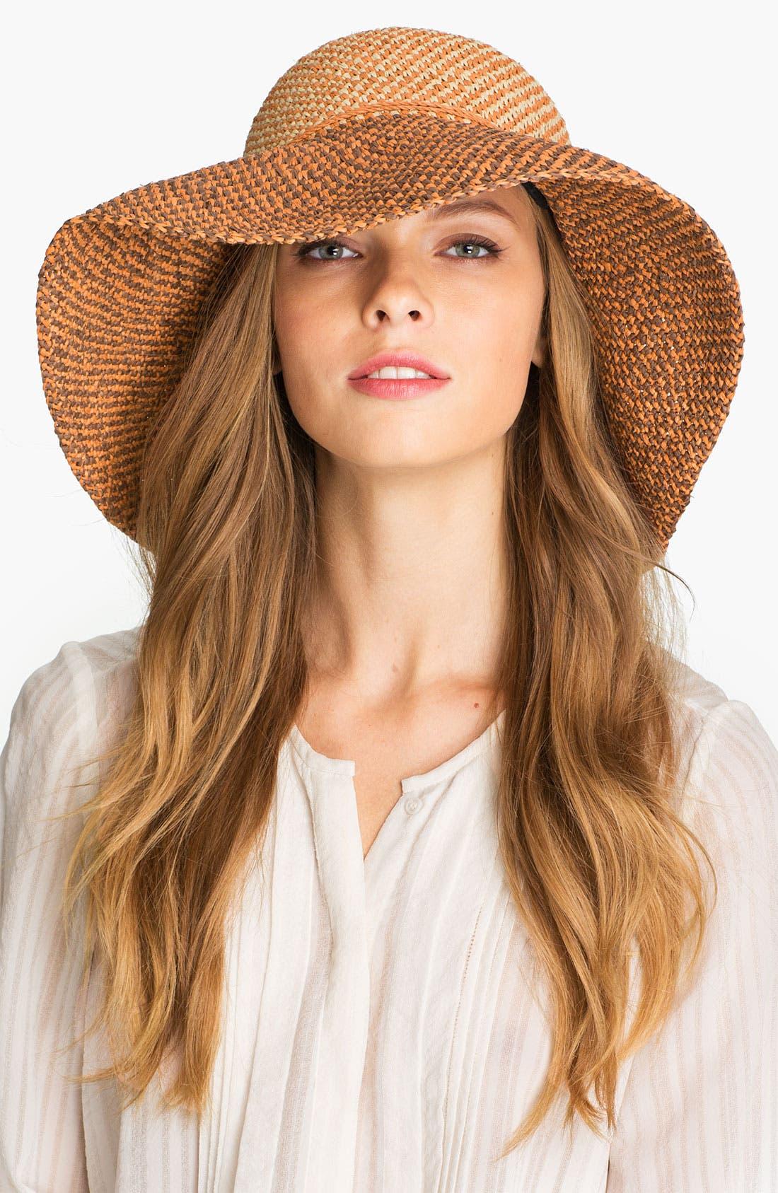 'Provence 12' Packable Raffia Hat,                             Main thumbnail 4, color,