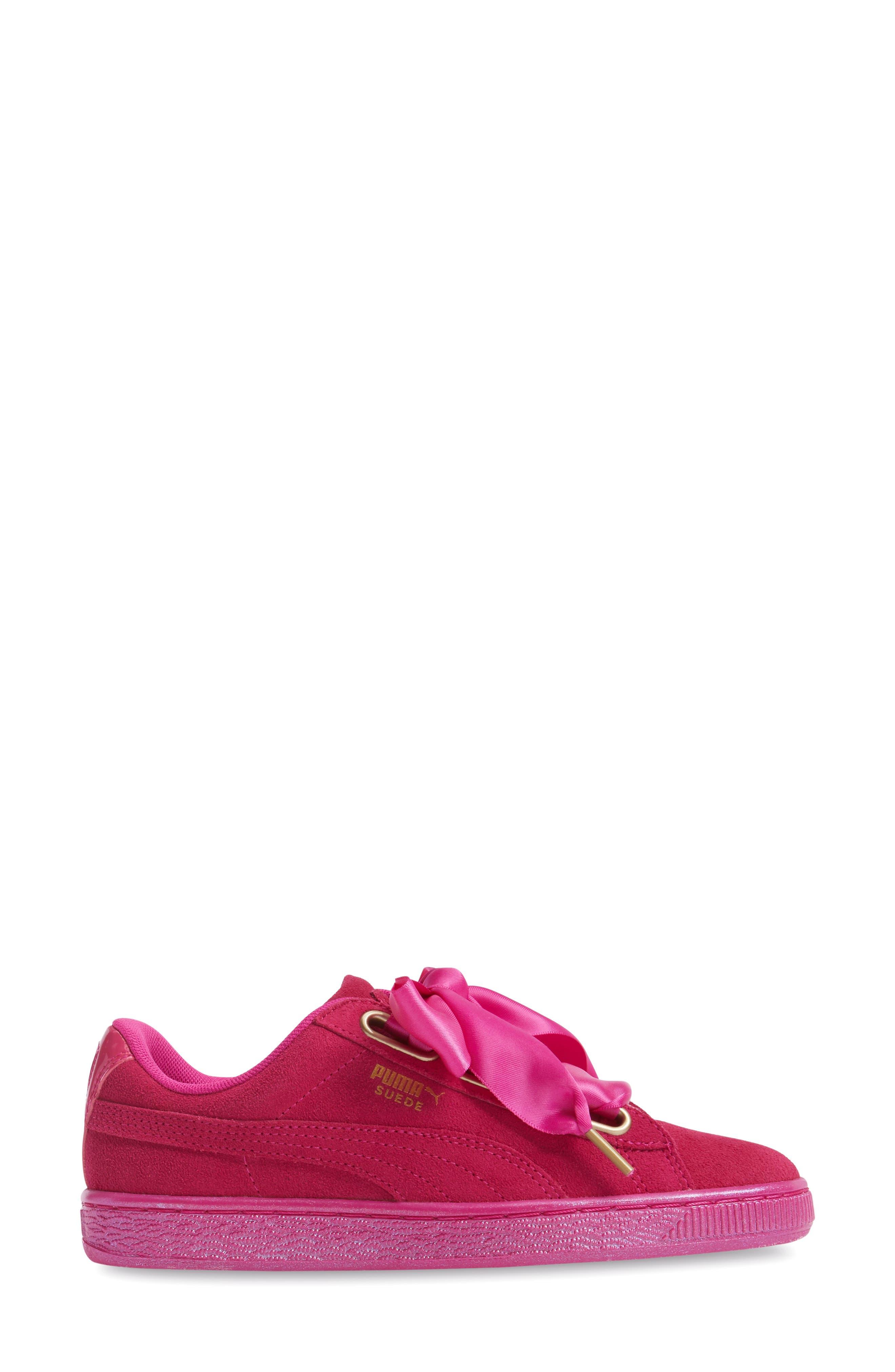 Suede - Heart Sneaker,                             Alternate thumbnail 23, color,