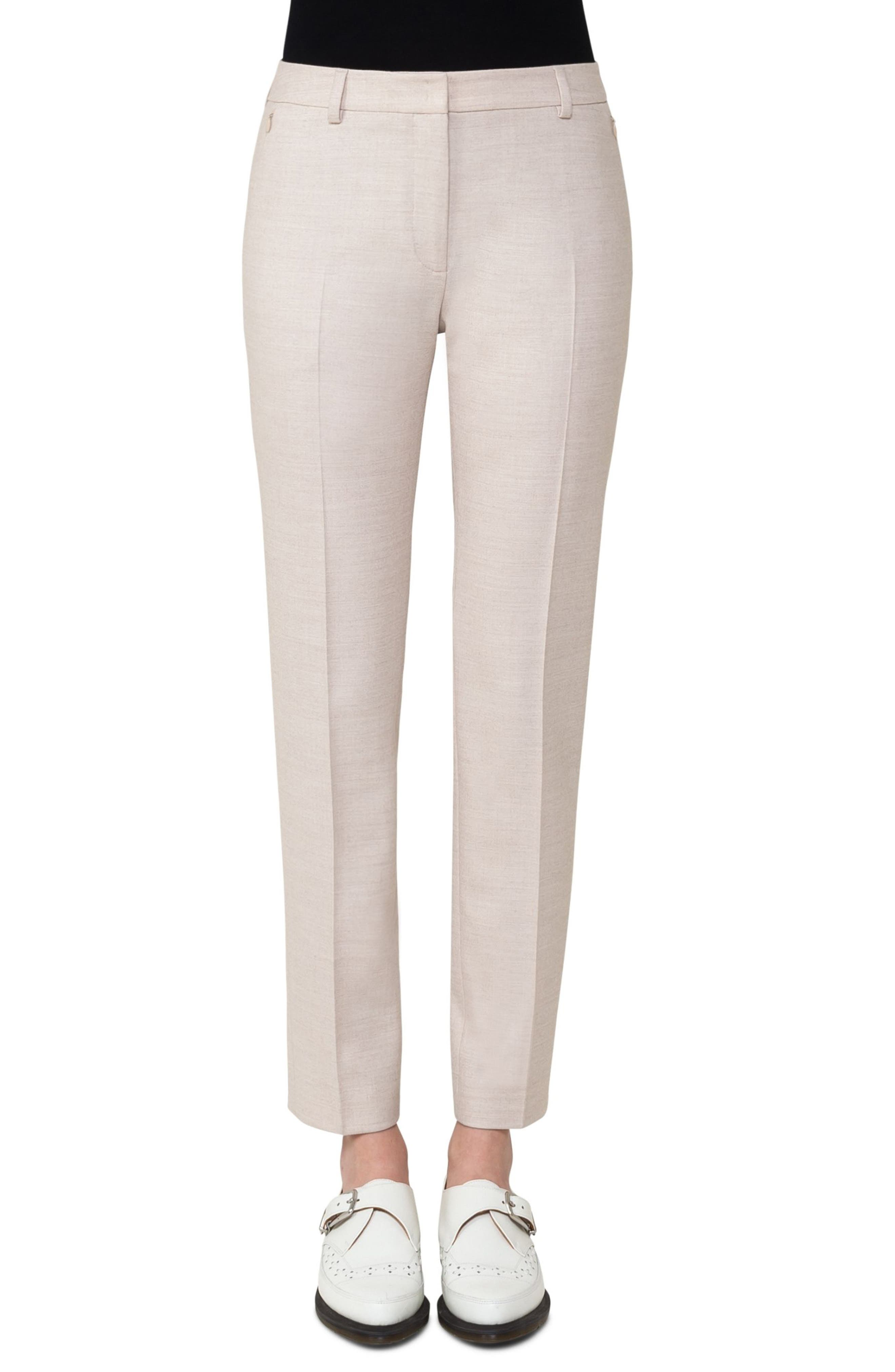 Stretch Wool Flannel Slim Pants,                         Main,                         color,