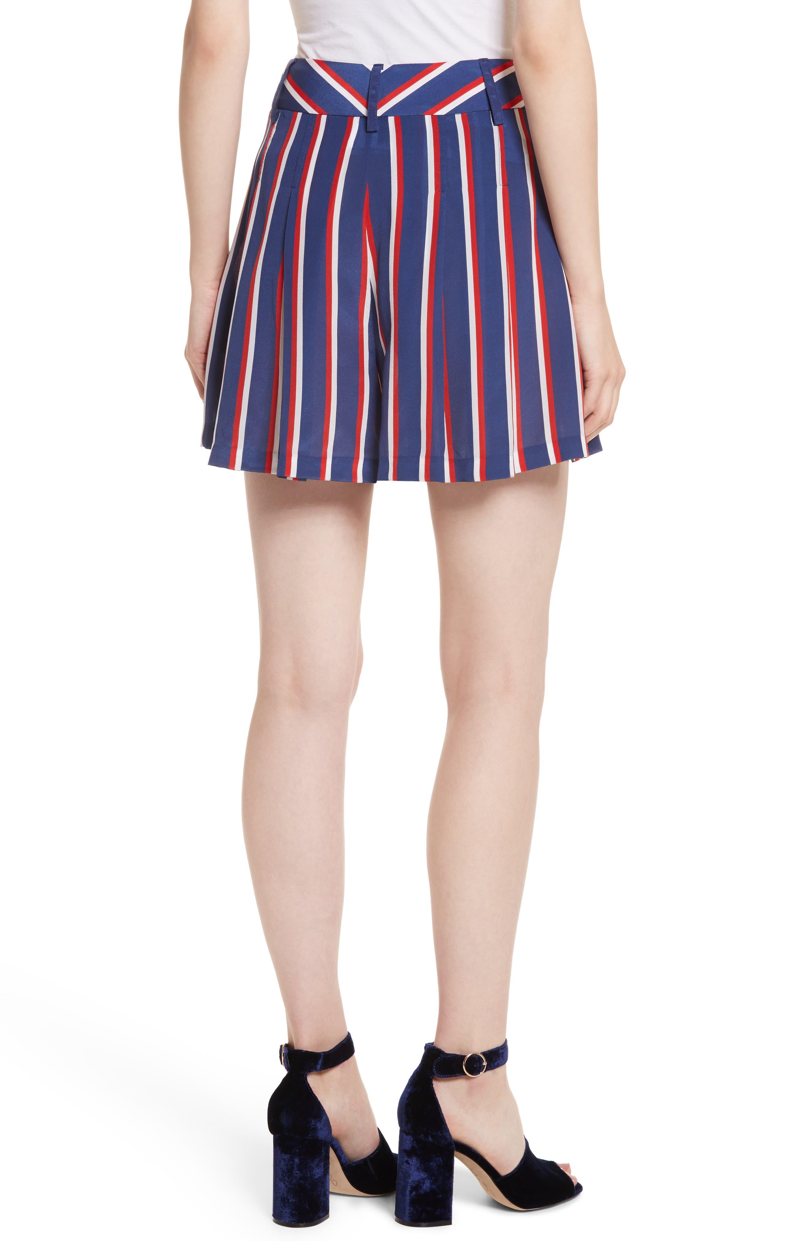 Scarlet Super High Waist Flutter Shorts,                             Alternate thumbnail 2, color,                             475