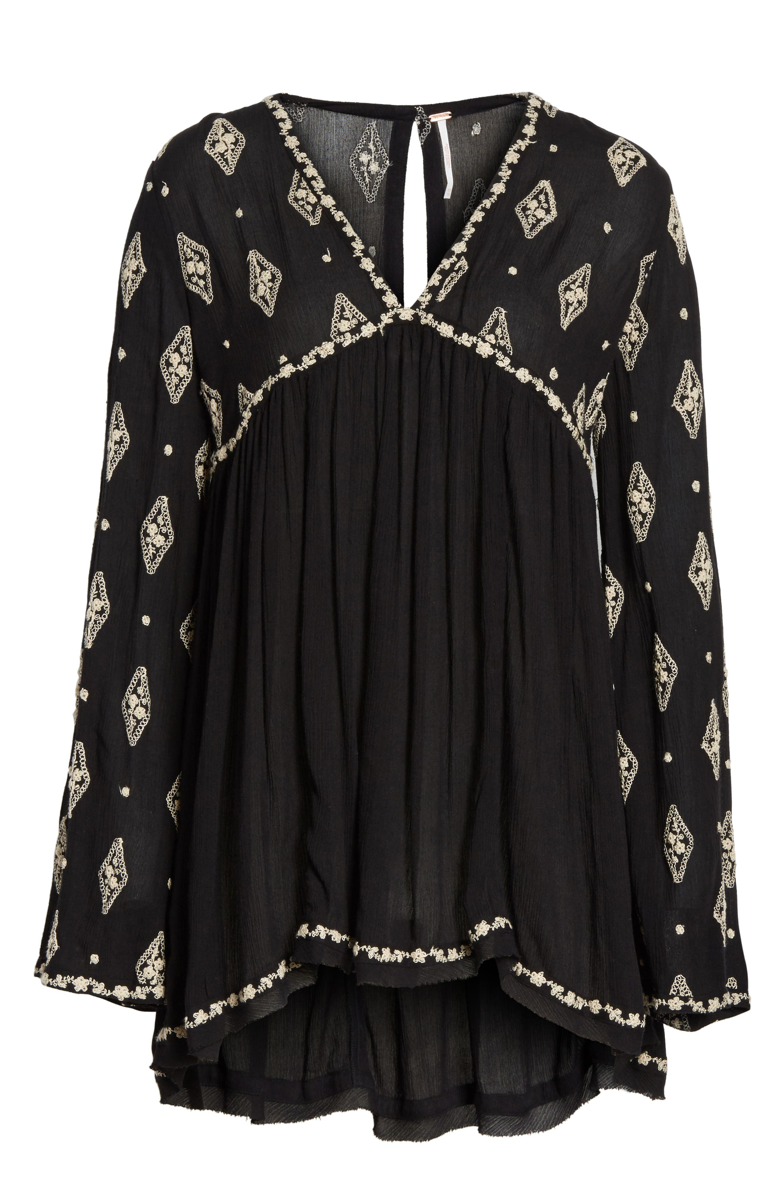 Embroidered Bell Sleeve Top,                             Alternate thumbnail 29, color,
