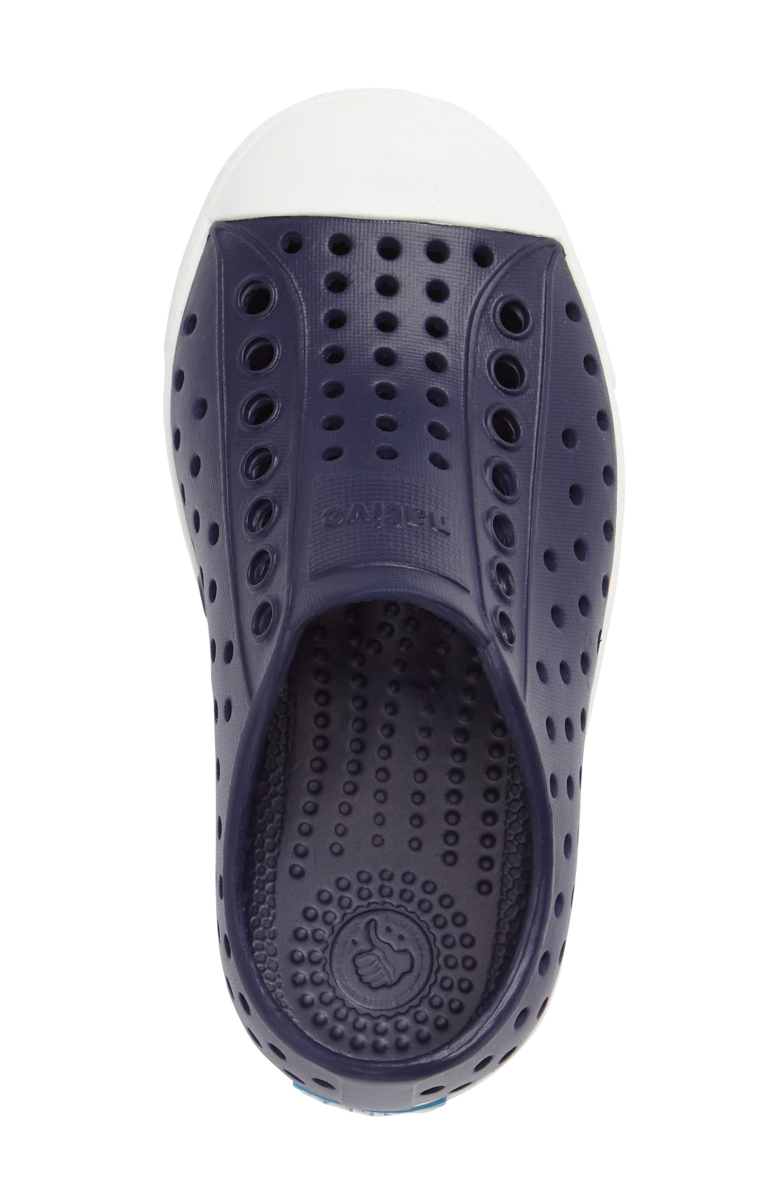 NATIVE SHOES,                             Jefferson Water Friendly Slip-On Vegan Sneaker,                             Alternate thumbnail 3, color,                             REGATTA BLUE/ SHELL WHITE