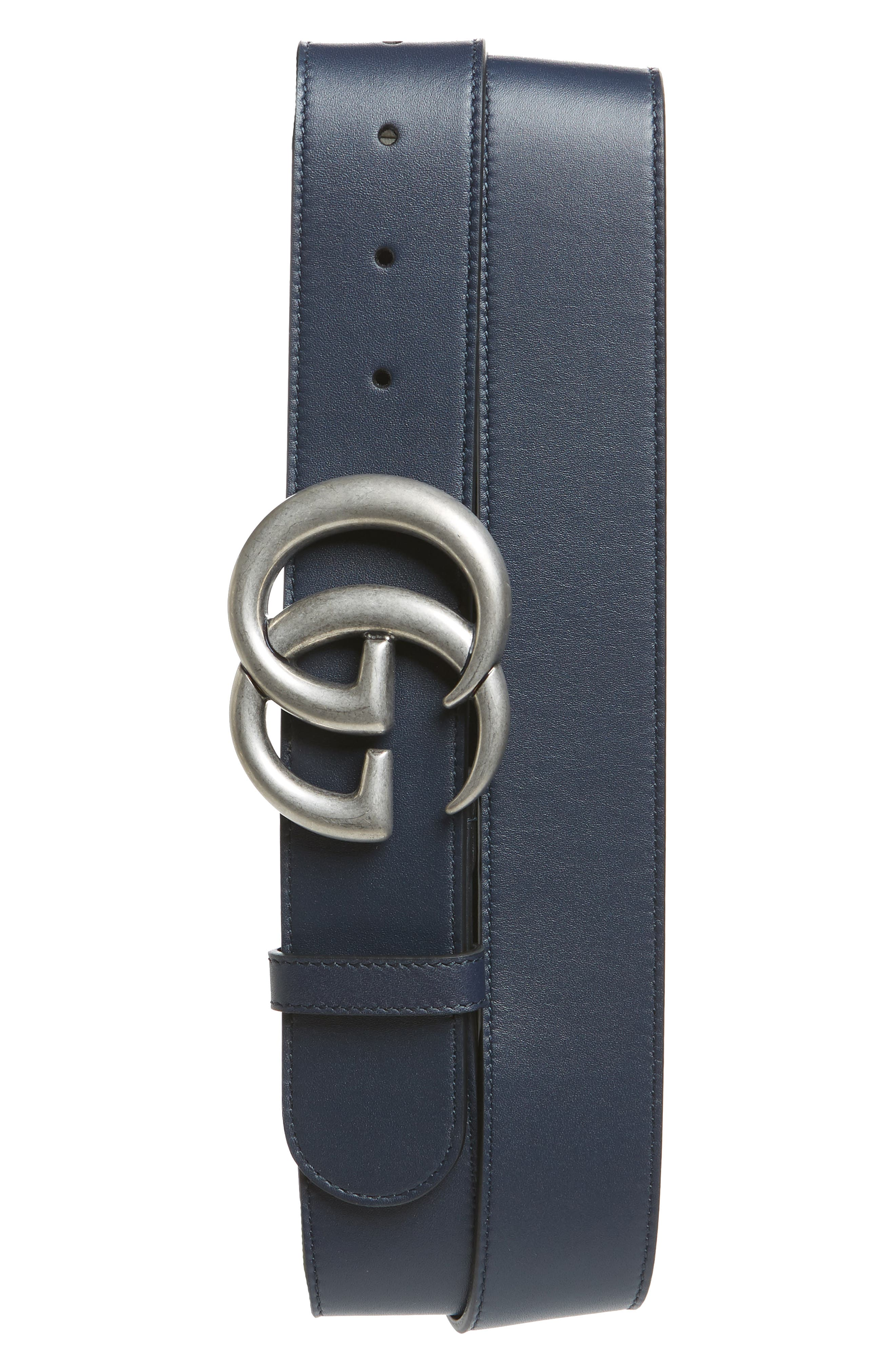 Logo Leather Belt,                         Main,                         color, 402