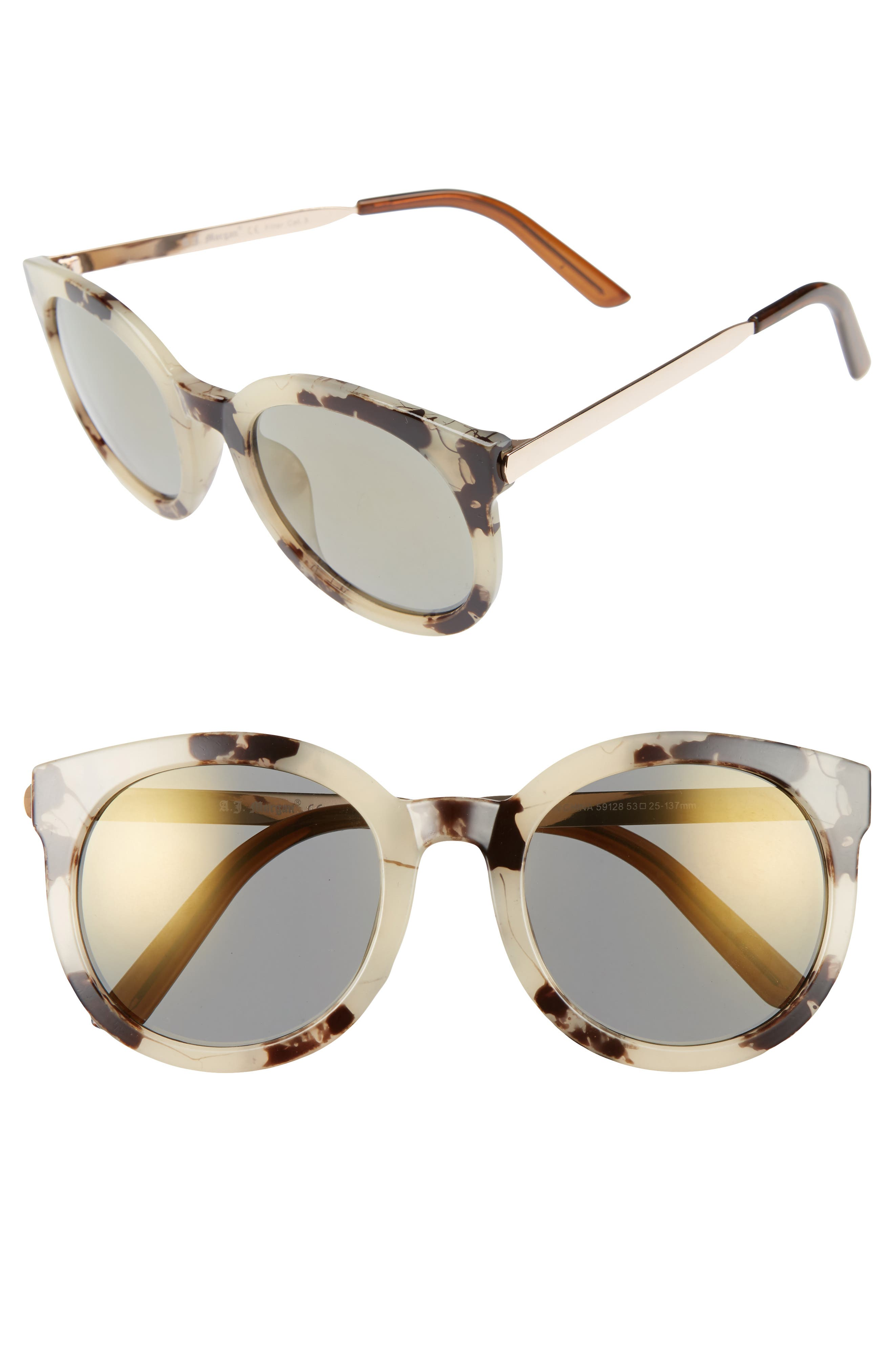 A.J. MORGAN,                             Cat D 53mm Sunglasses,                             Main thumbnail 1, color,                             020