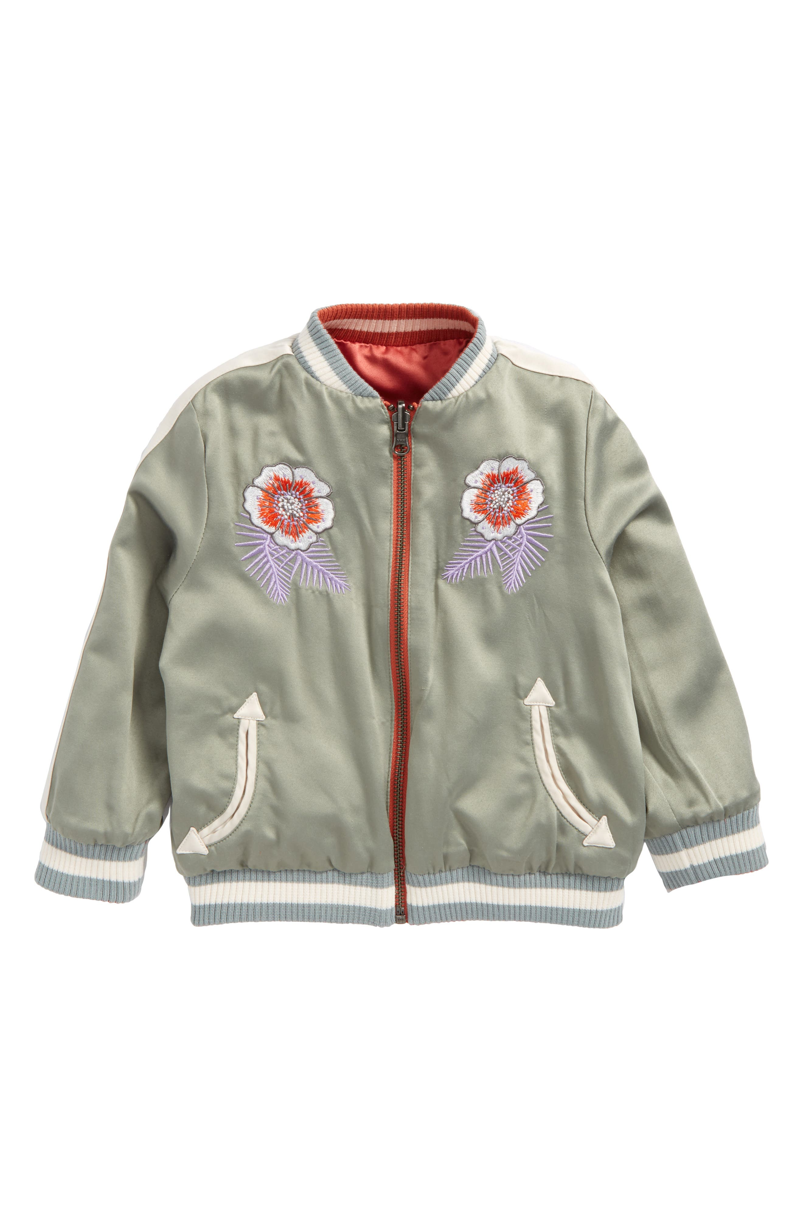 Willow Embroidered Reversible Bomber Jacket,                             Alternate thumbnail 2, color,