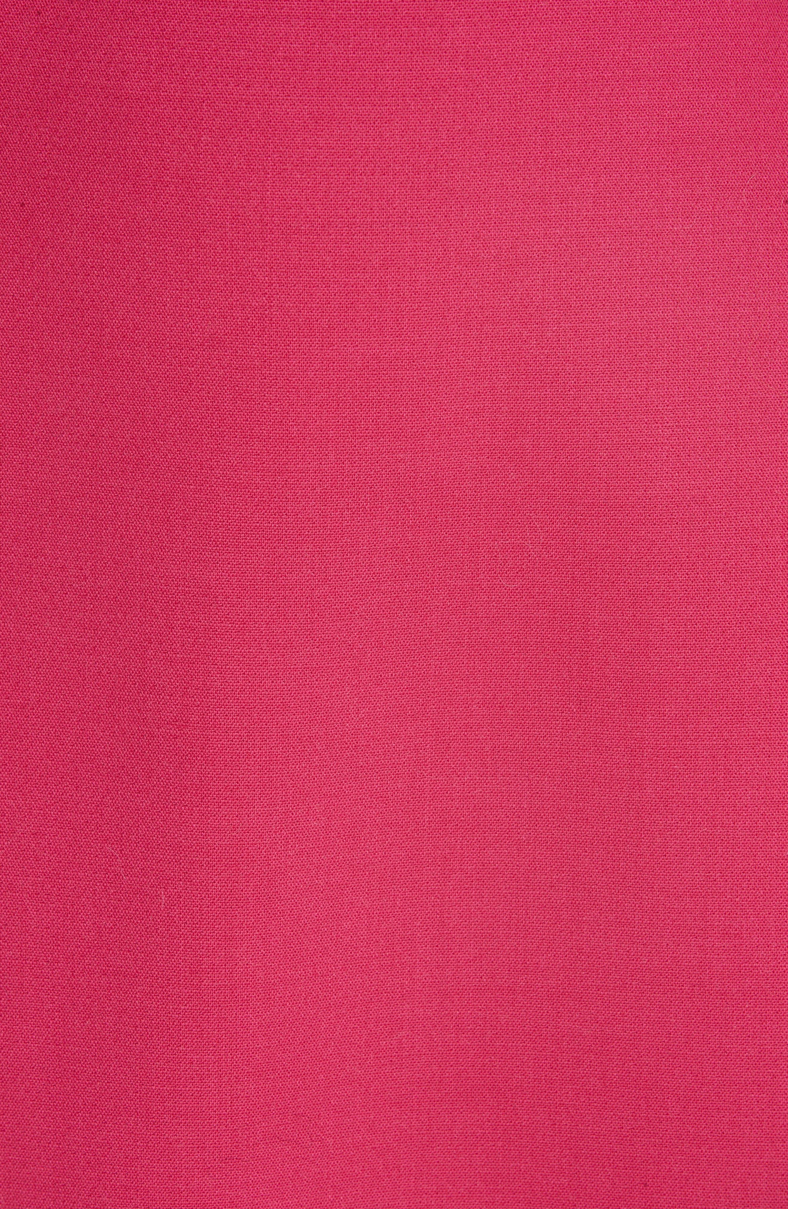 Zip Front A-Line Skirt,                             Alternate thumbnail 5, color,                             FUCHSIA