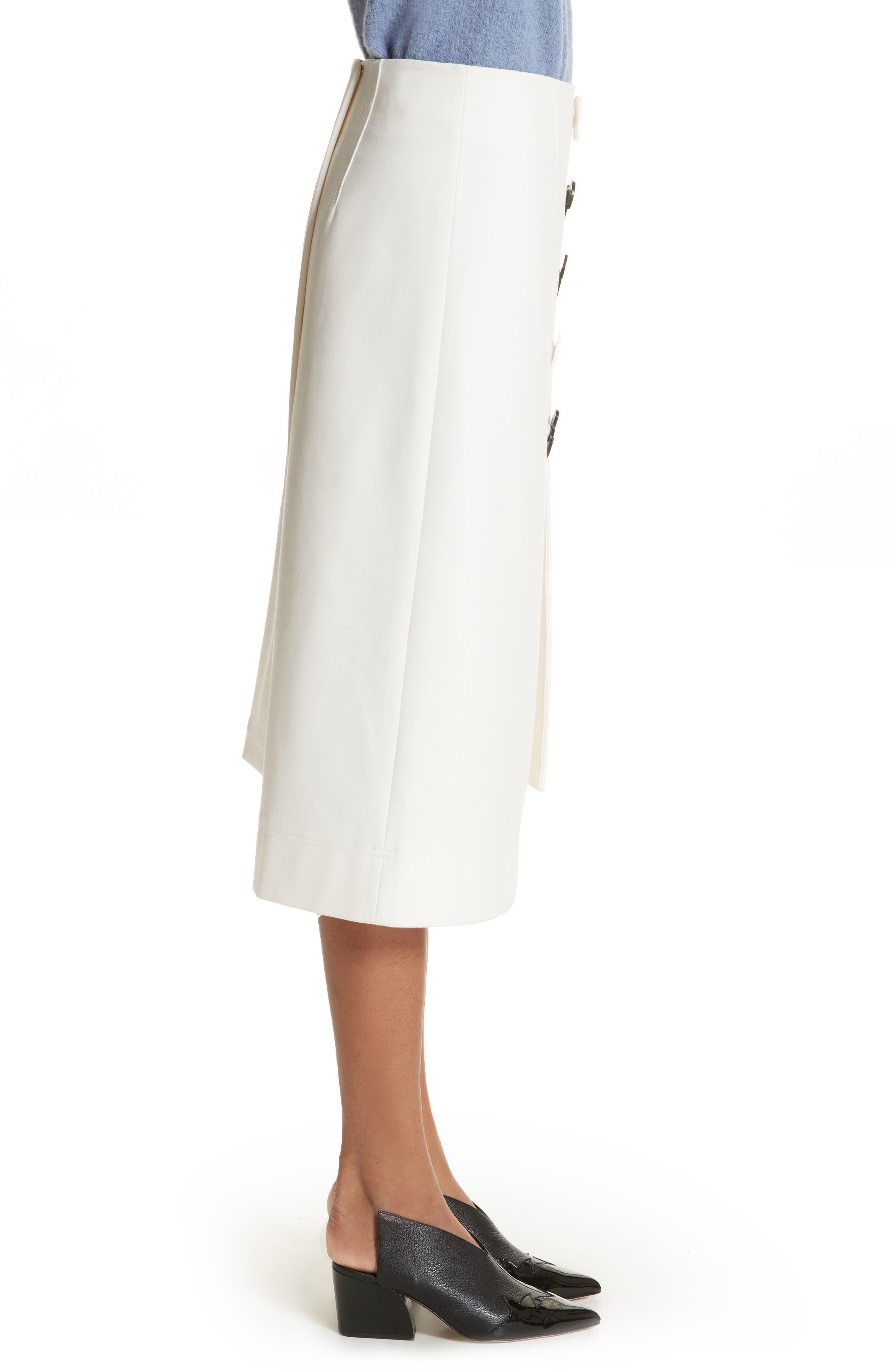Mora Asymmetrical Faux Wrap Skirt,                             Alternate thumbnail 3, color,                             903