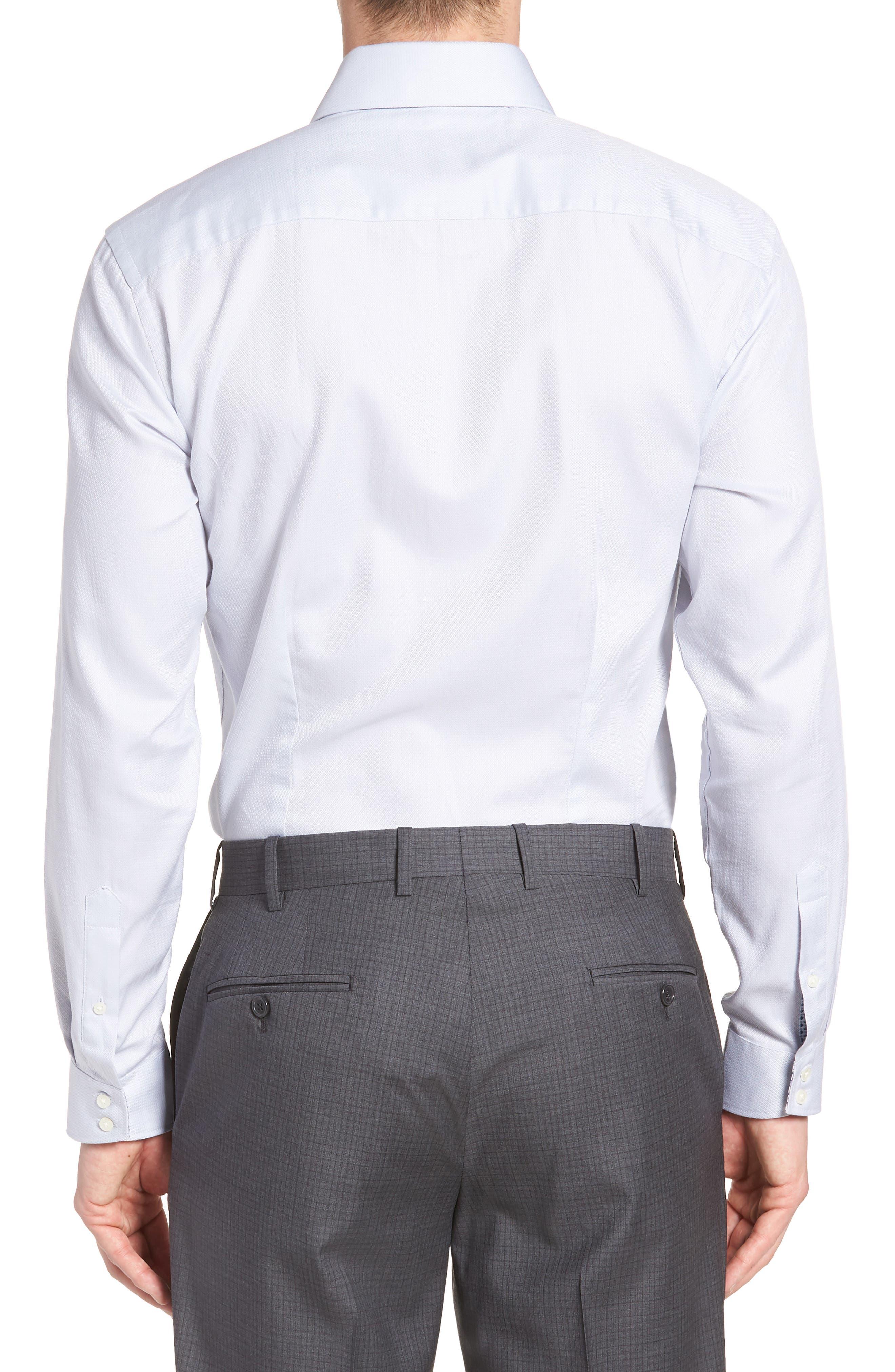 Ollyox Slim Fit Solid Dress Shirt,                             Alternate thumbnail 3, color,                             GREY