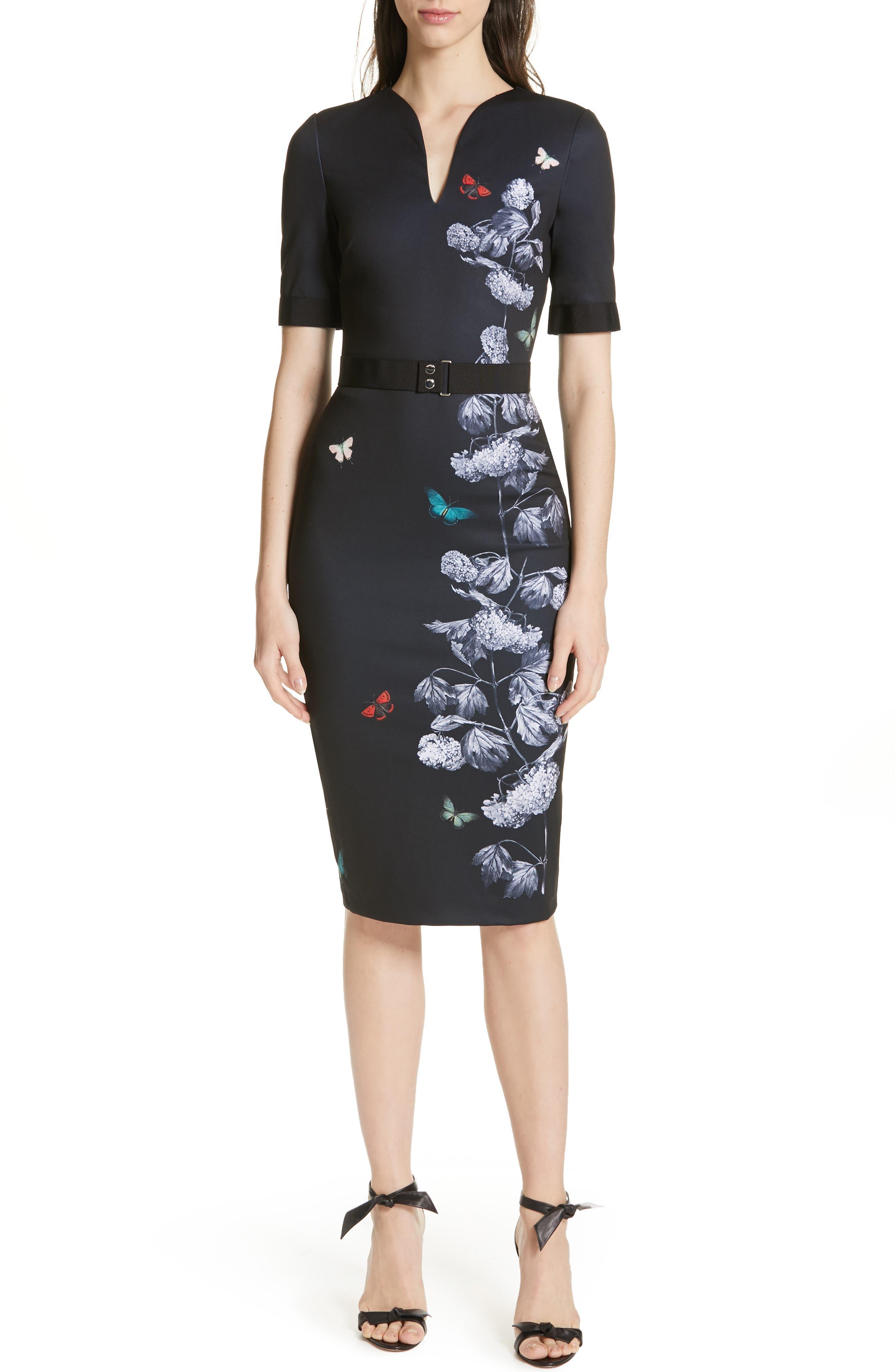 Niliano Narrnia Sheath Dress in Black