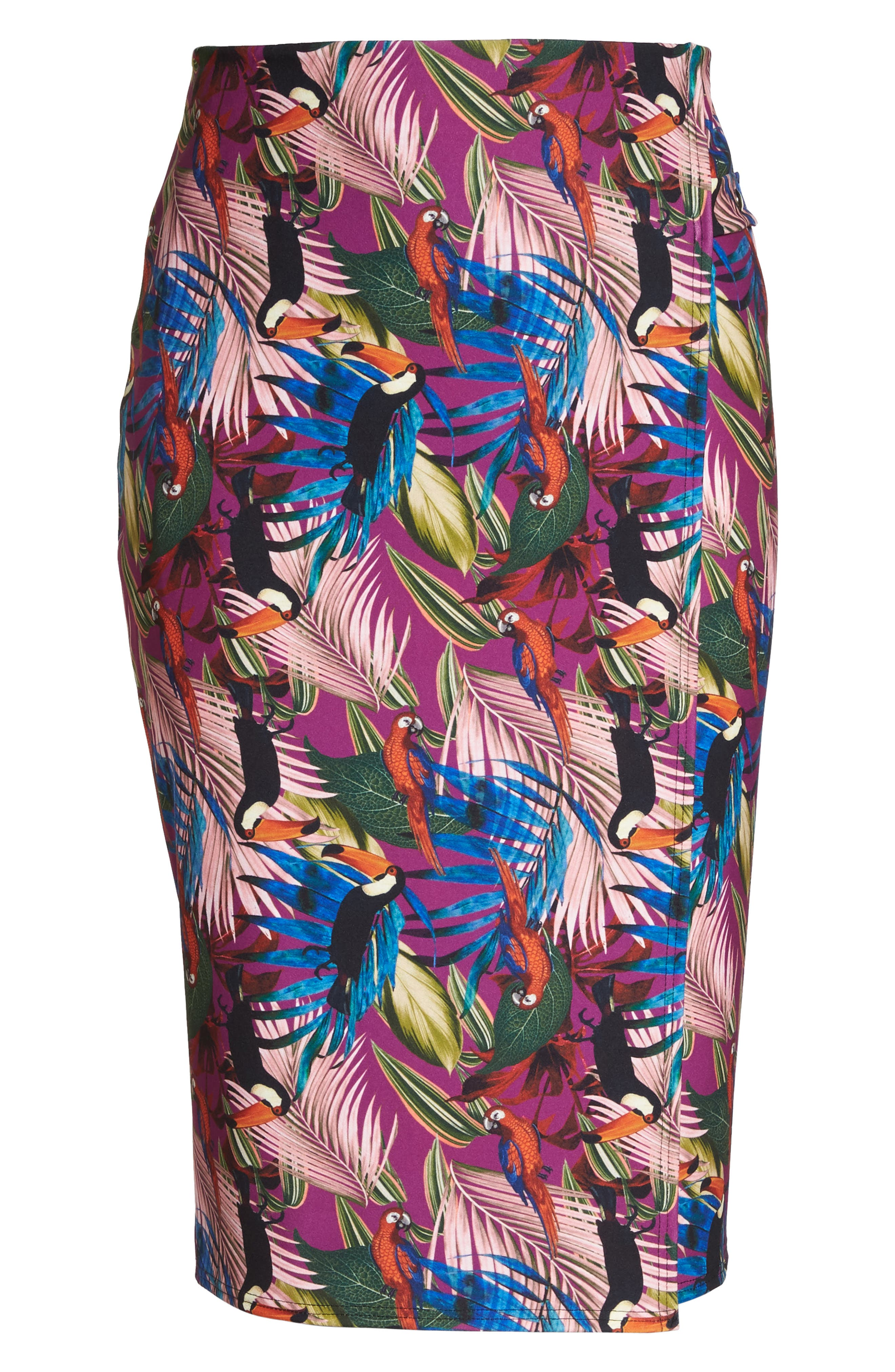 Tropical Side Tab Pencil Skirt,                             Alternate thumbnail 7, color,                             505