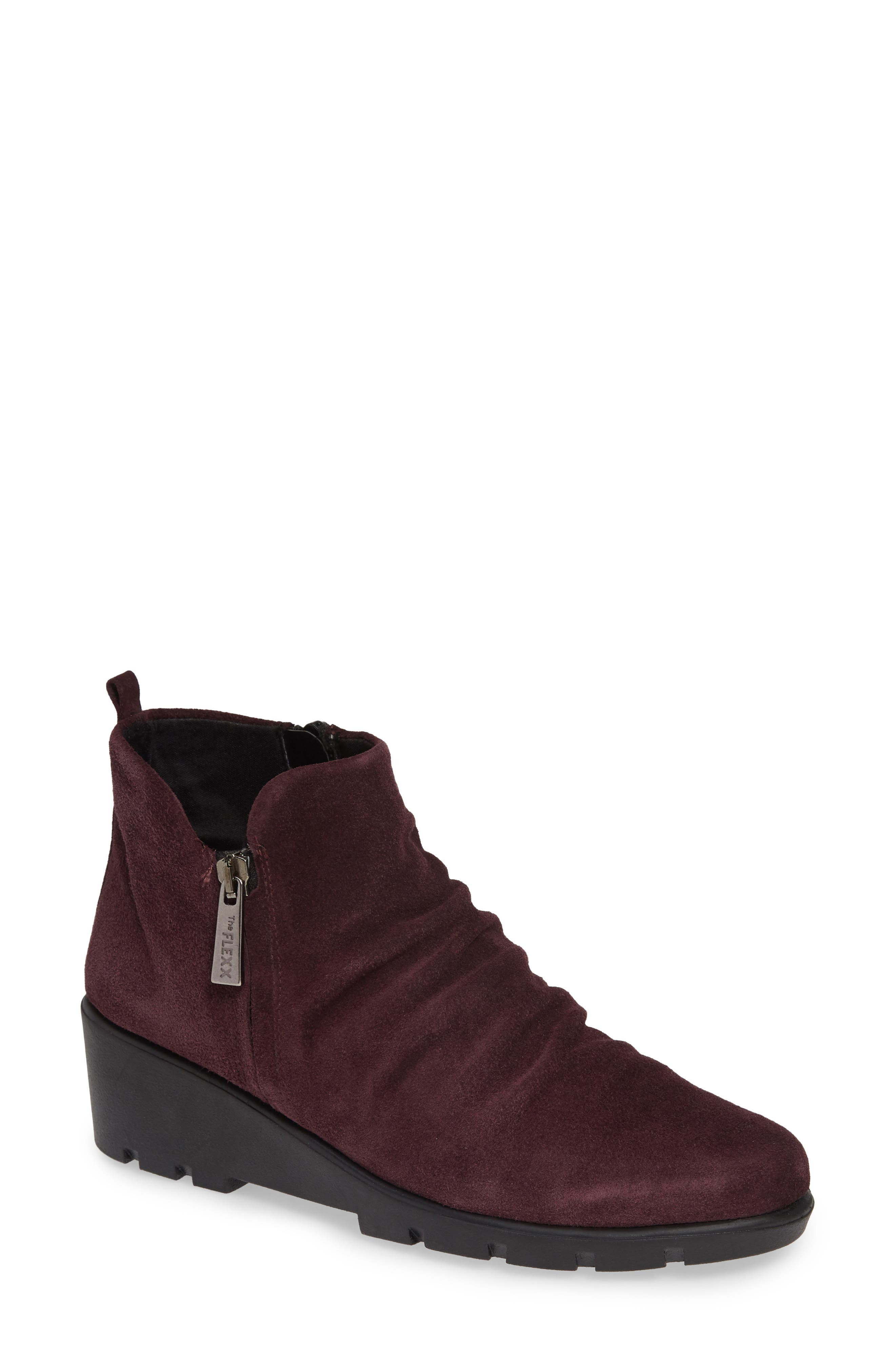 The Flexx Slingshot Ankle Bootie- Burgundy