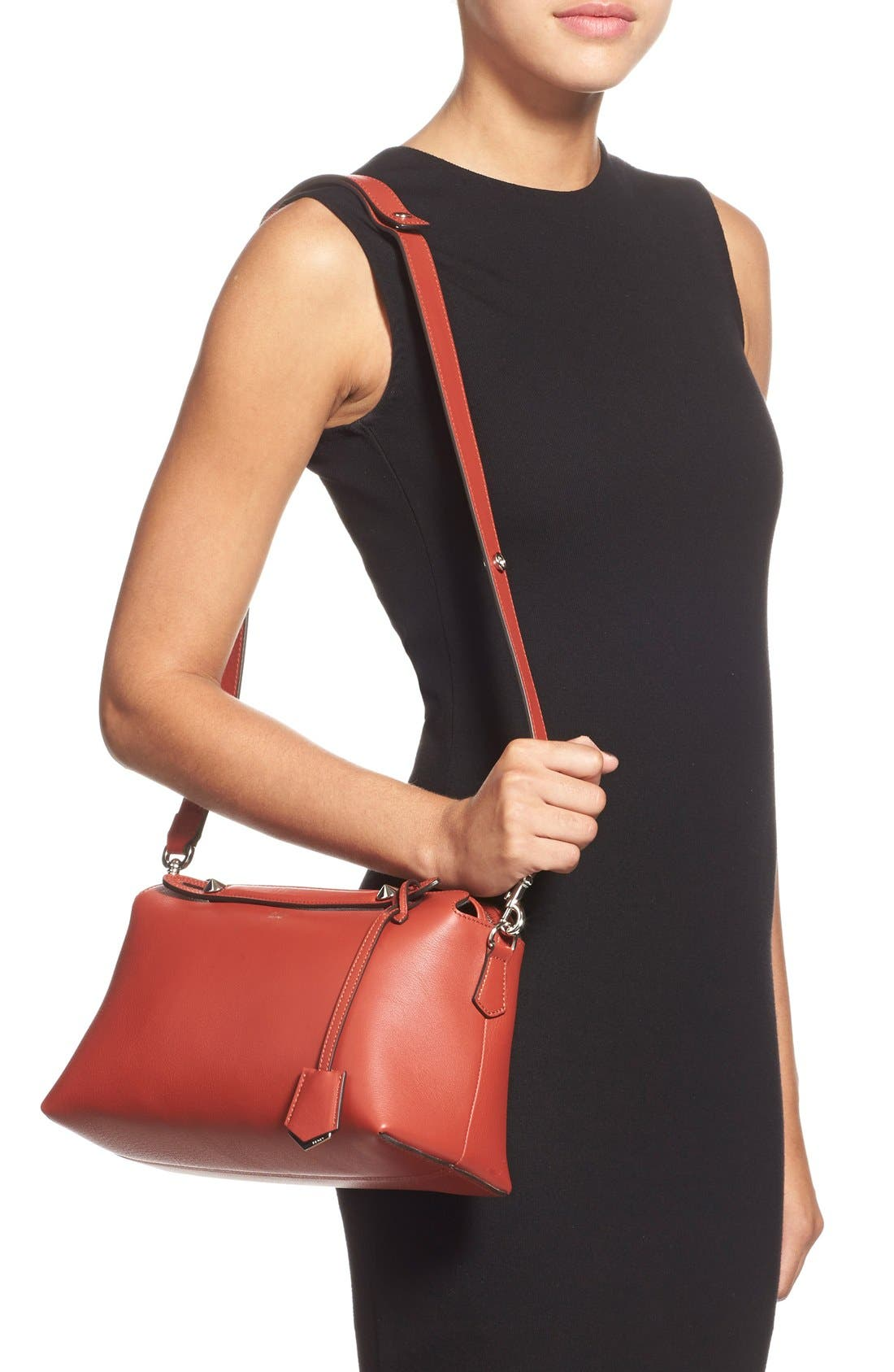 'Medium By the Way' Convertible Leather Shoulder Bag,                             Main thumbnail 1, color,                             601
