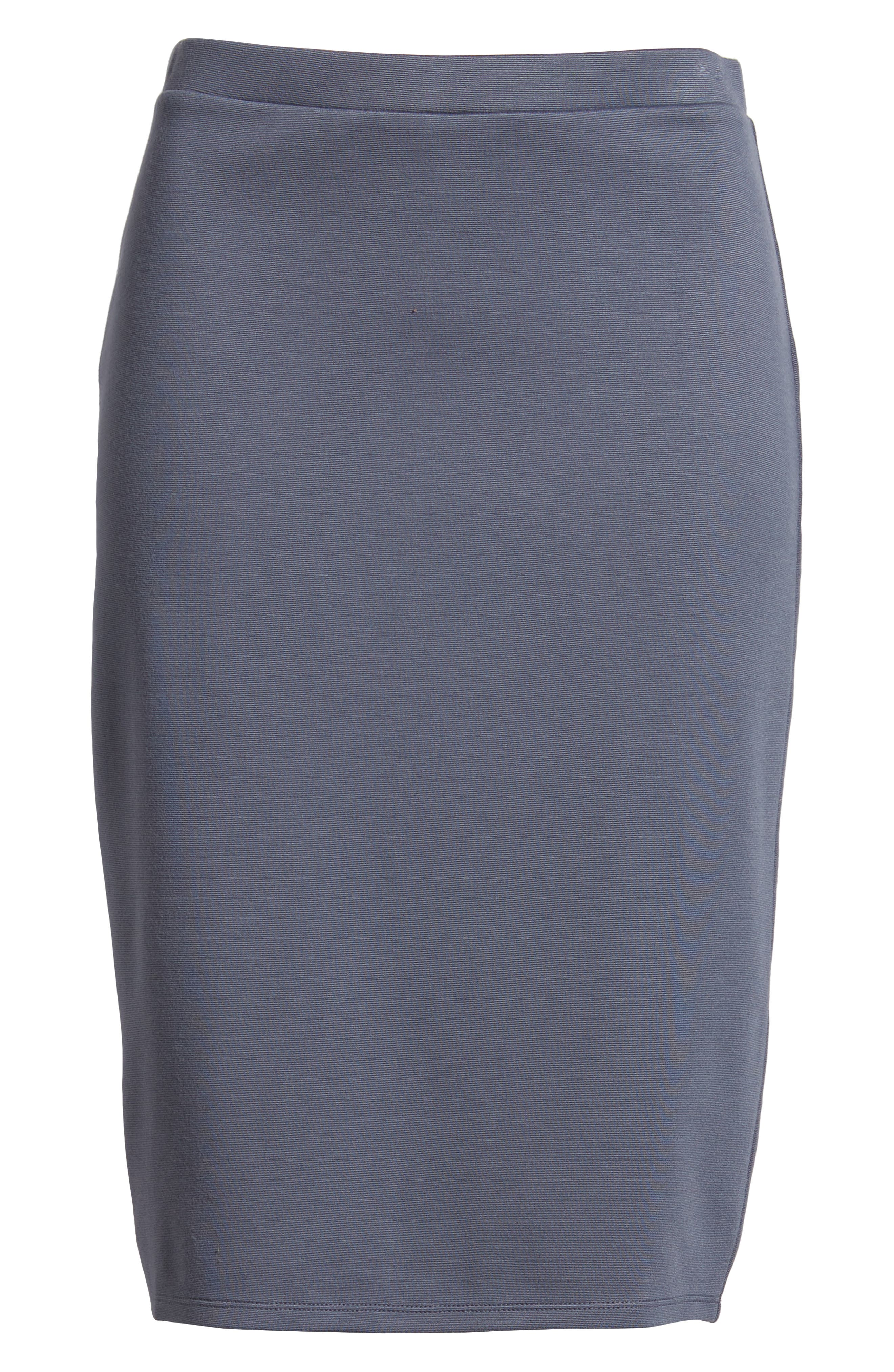 Pencil Skirt,                             Alternate thumbnail 6, color,                             GREY GRISAILLE