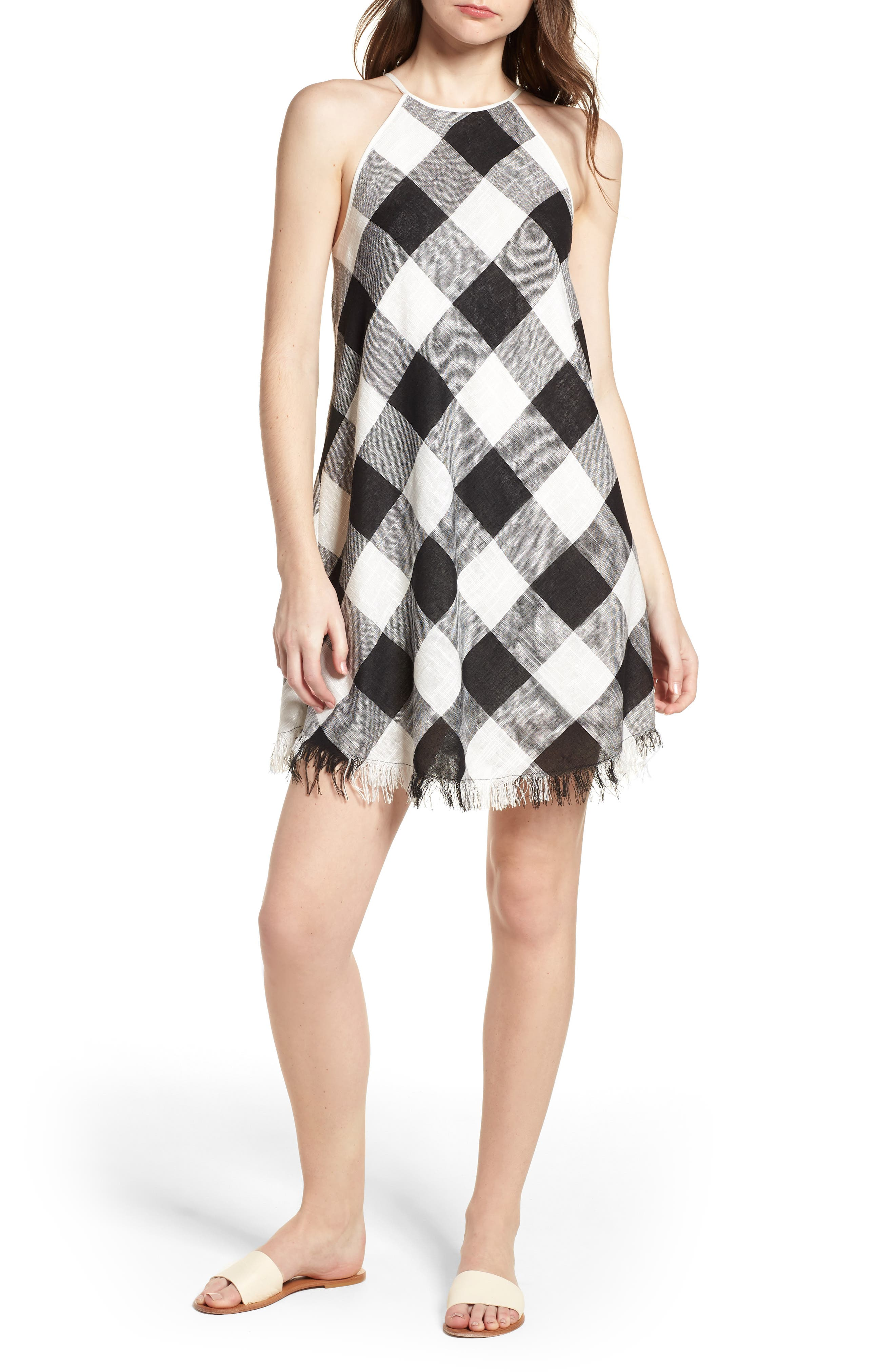 Bishop + Young Gingham Shift Dress,                             Main thumbnail 1, color,                             ASSORTED