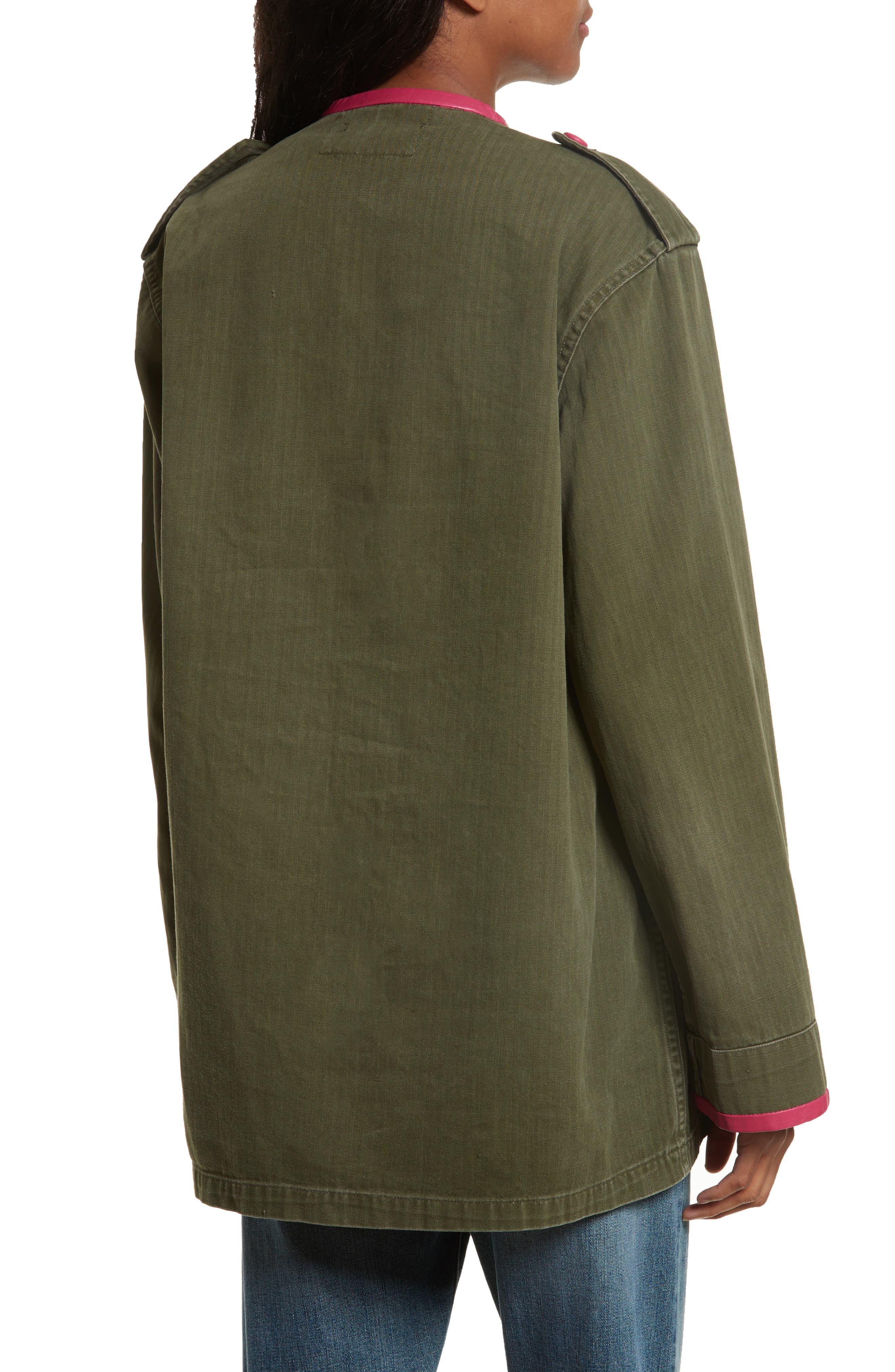 Leather Trim Vintage Army Jacket,                             Alternate thumbnail 2, color,                             300