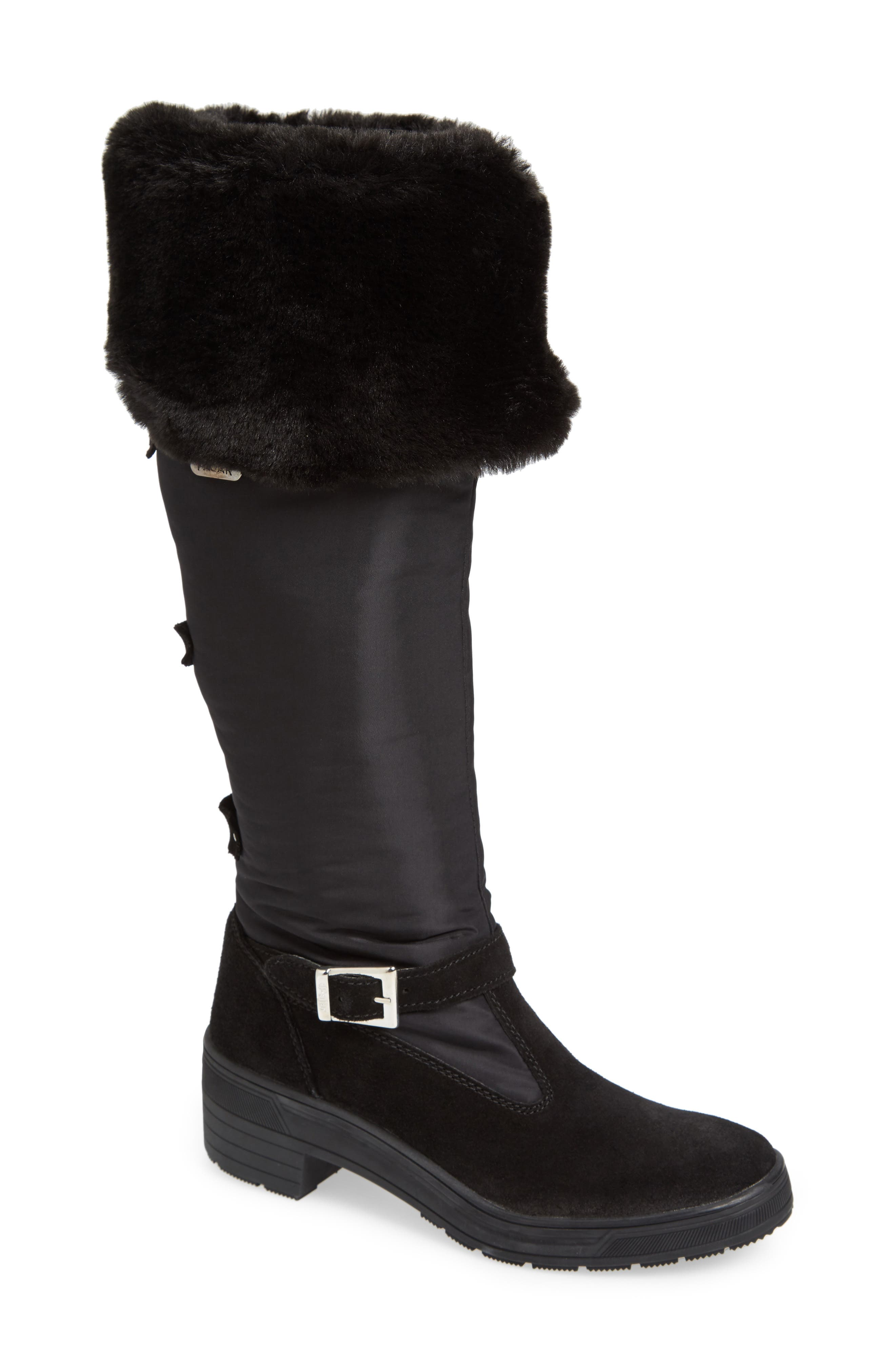 Norah Waterproof Boot with Faux Fur Cuff,                             Main thumbnail 1, color,