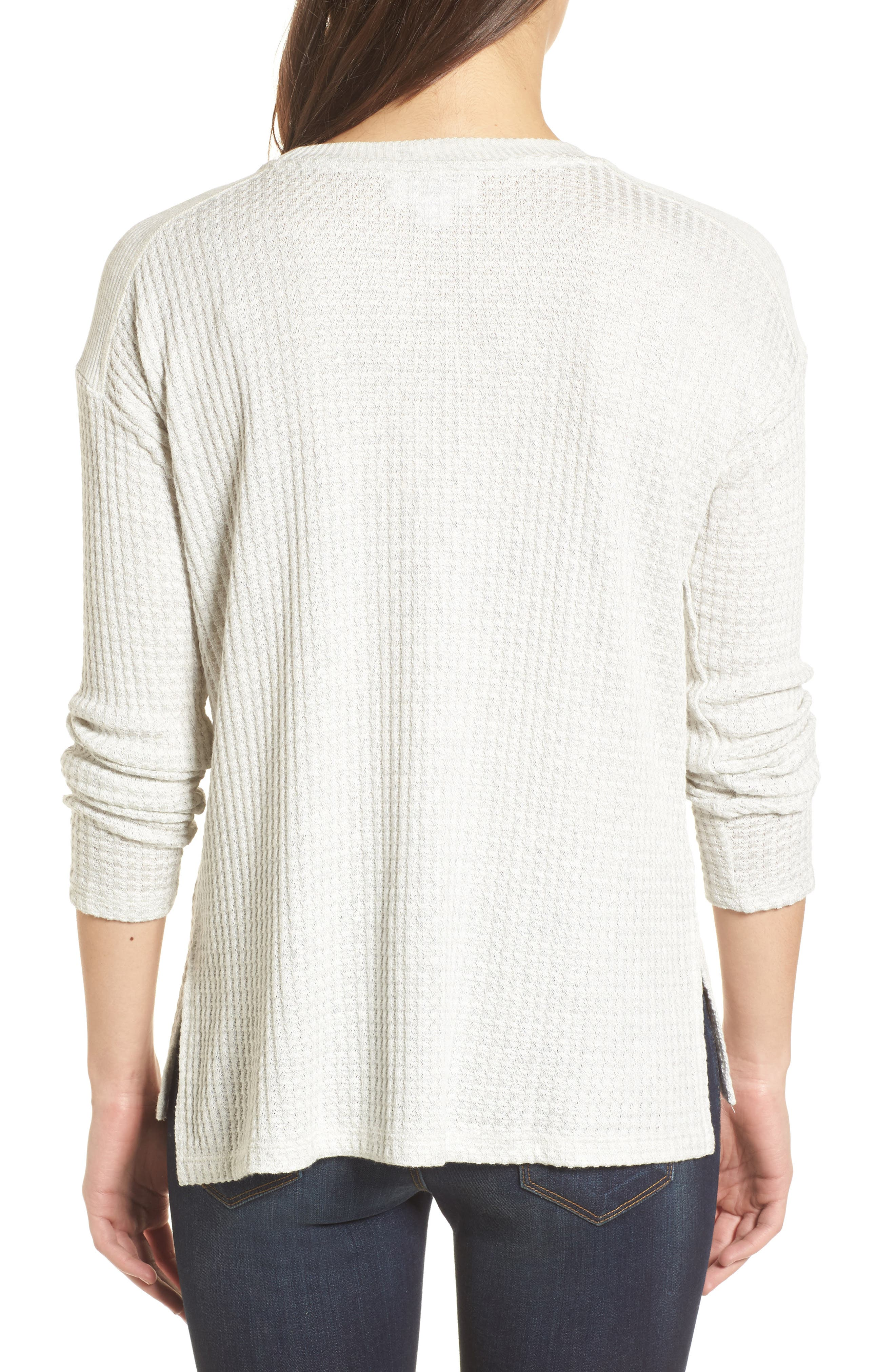 Thermal Knit Top,                             Alternate thumbnail 2, color,
