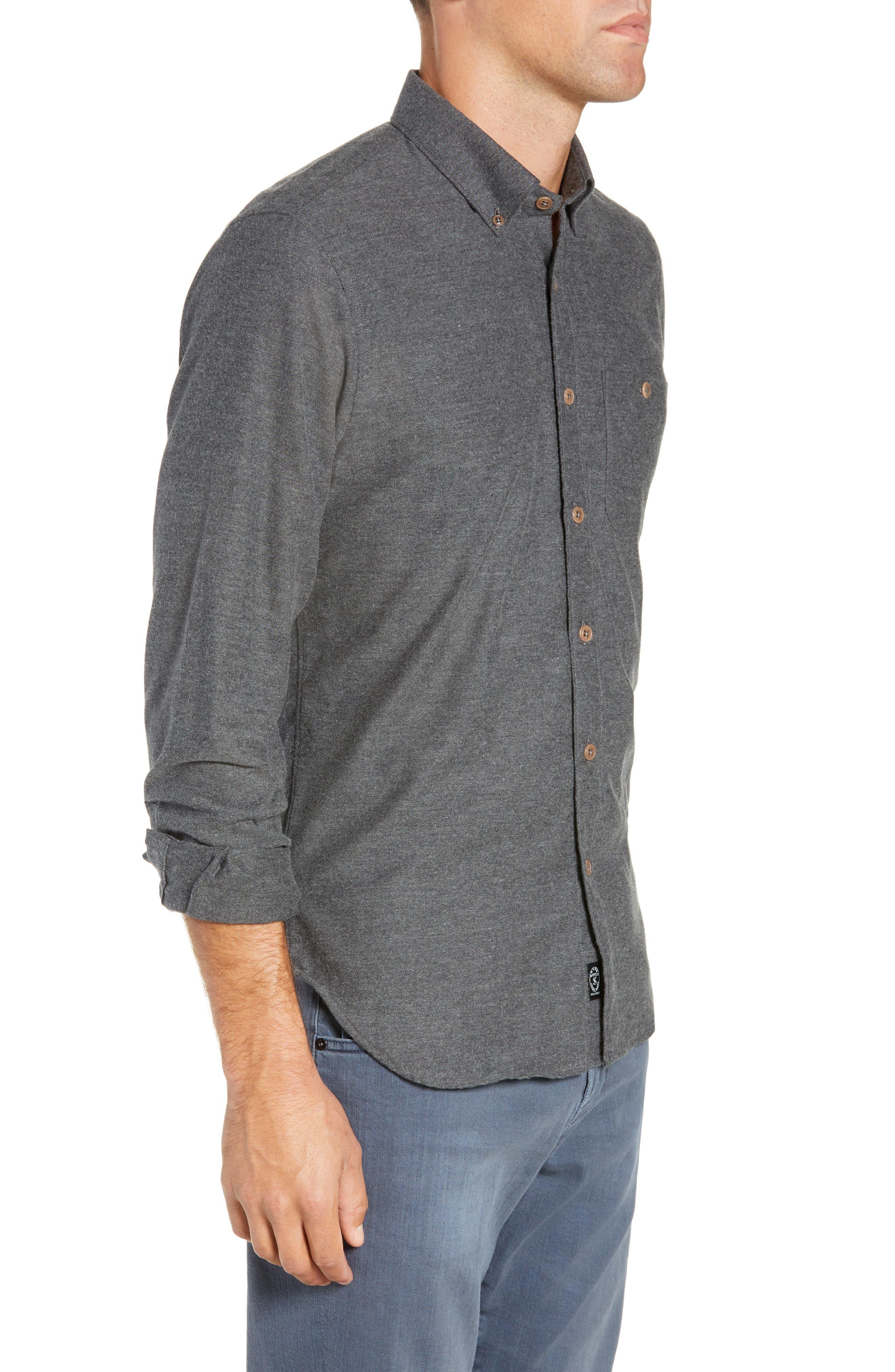 Brushed Cotton & Cashmere Twill Sport Shirt,                             Alternate thumbnail 4, color,                             020