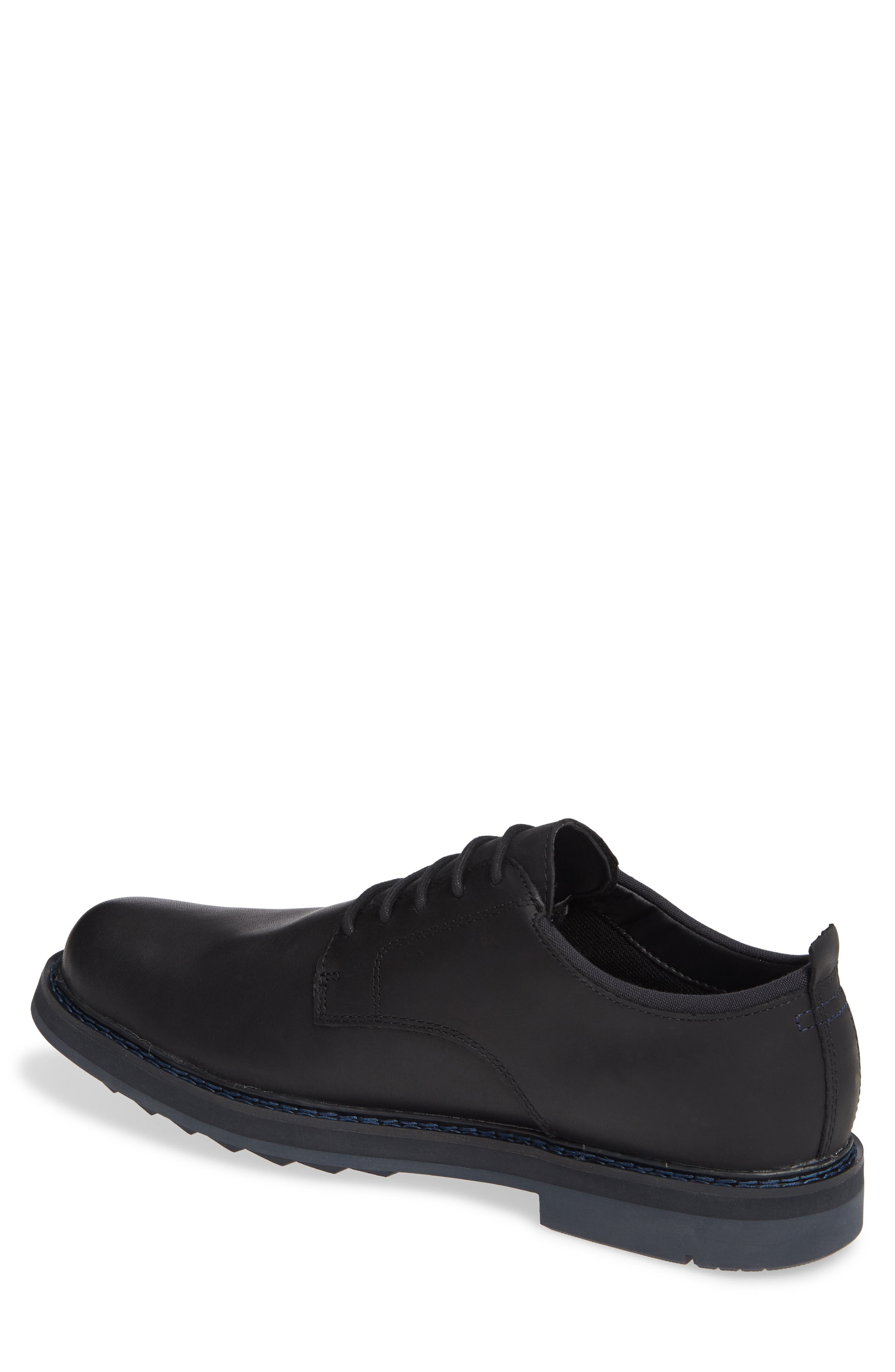 Squall Canyon Waterproof Plain Toe Derby,                             Alternate thumbnail 2, color,                             BLACK LEATHER
