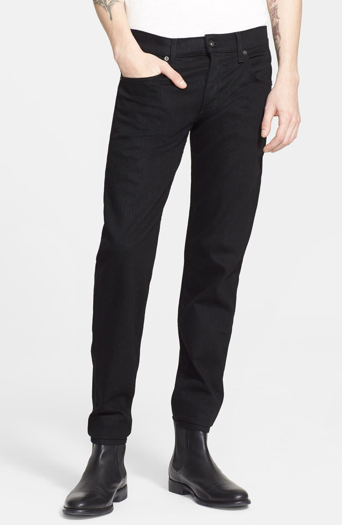 Standard Issue Fit 1 Skinny Fit Jeans,                             Main thumbnail 1, color,                             BLACK
