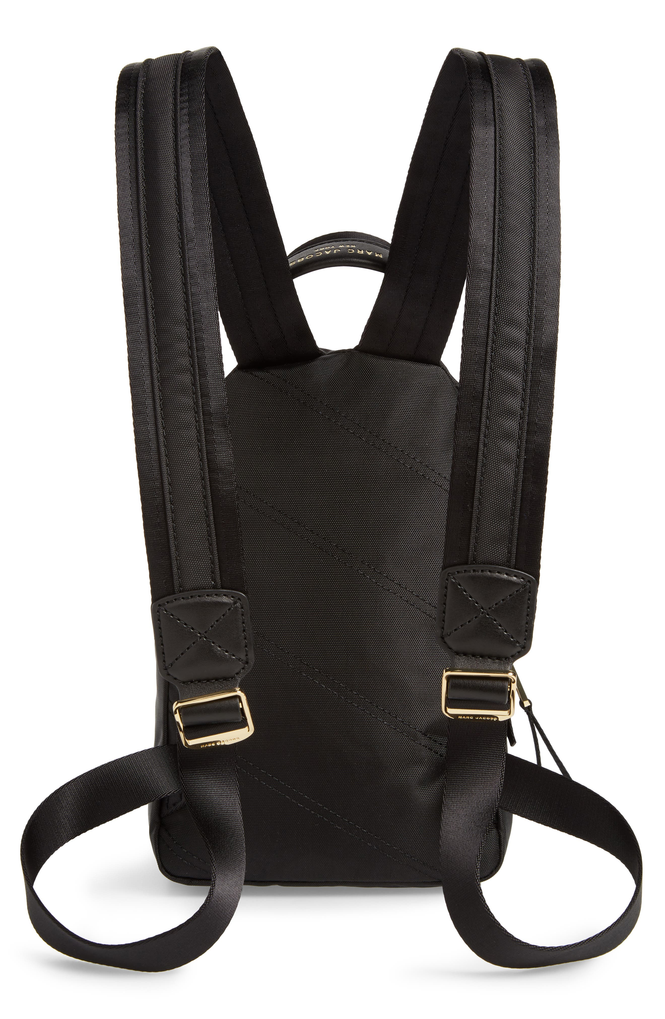 Mini Trek Nylon Backpack,                             Alternate thumbnail 3, color,                             001