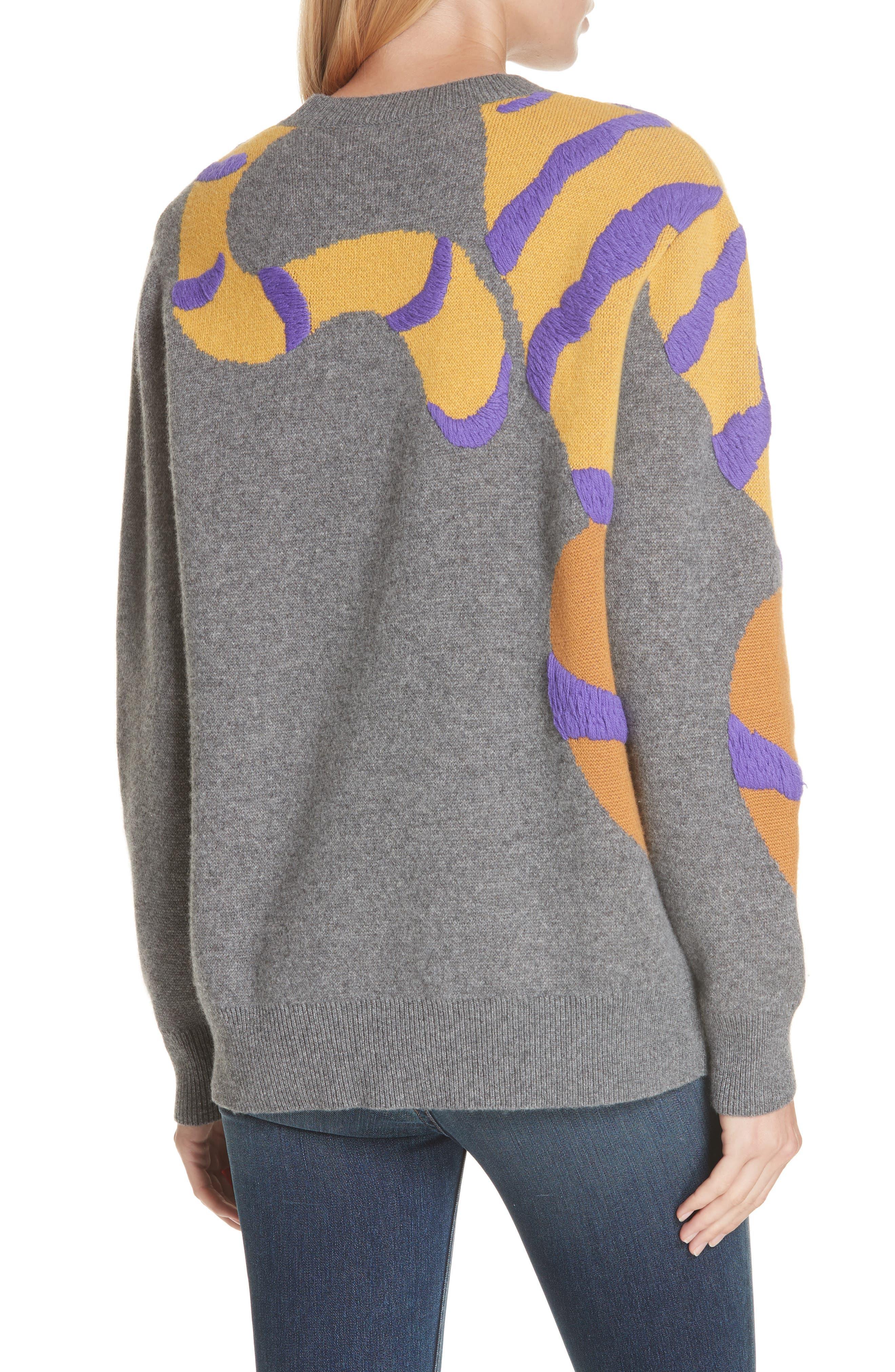 RAG & BONE,                             Tiger Cashmere Sweater,                             Alternate thumbnail 2, color,                             CHARCOAL