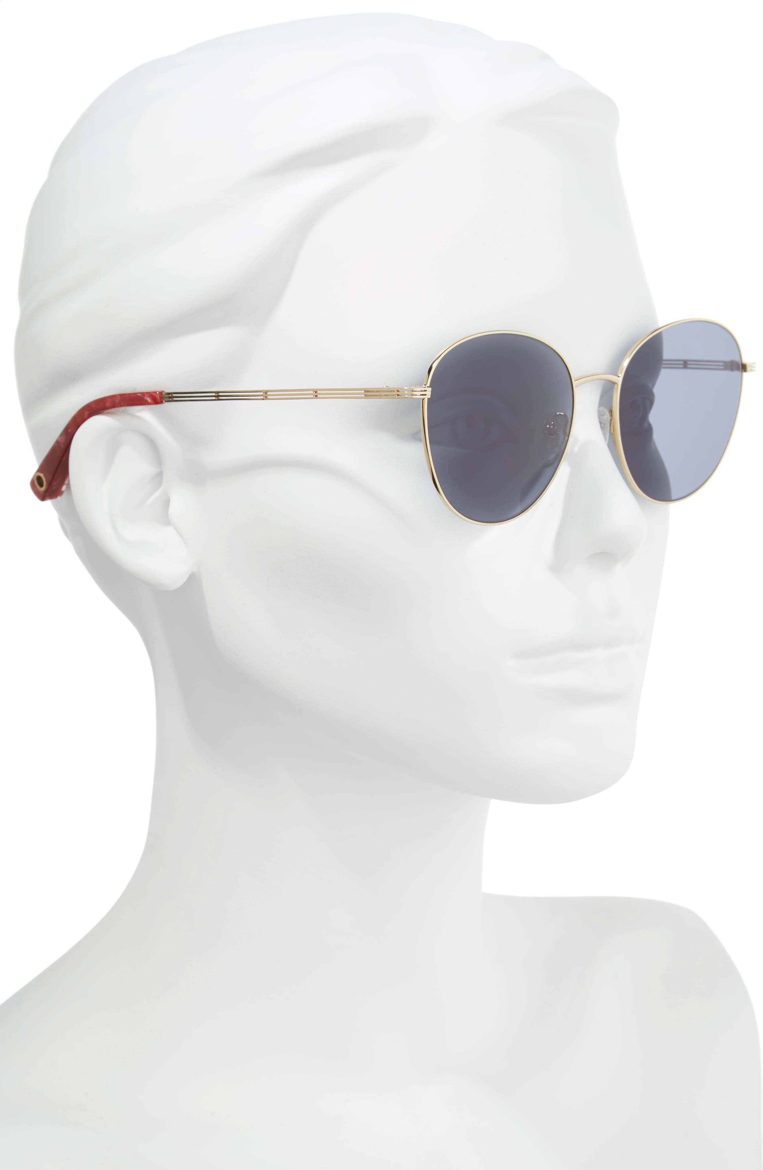 Gilmour 53mm Round Sunglasses & Beaded Chain,                             Alternate thumbnail 5, color,