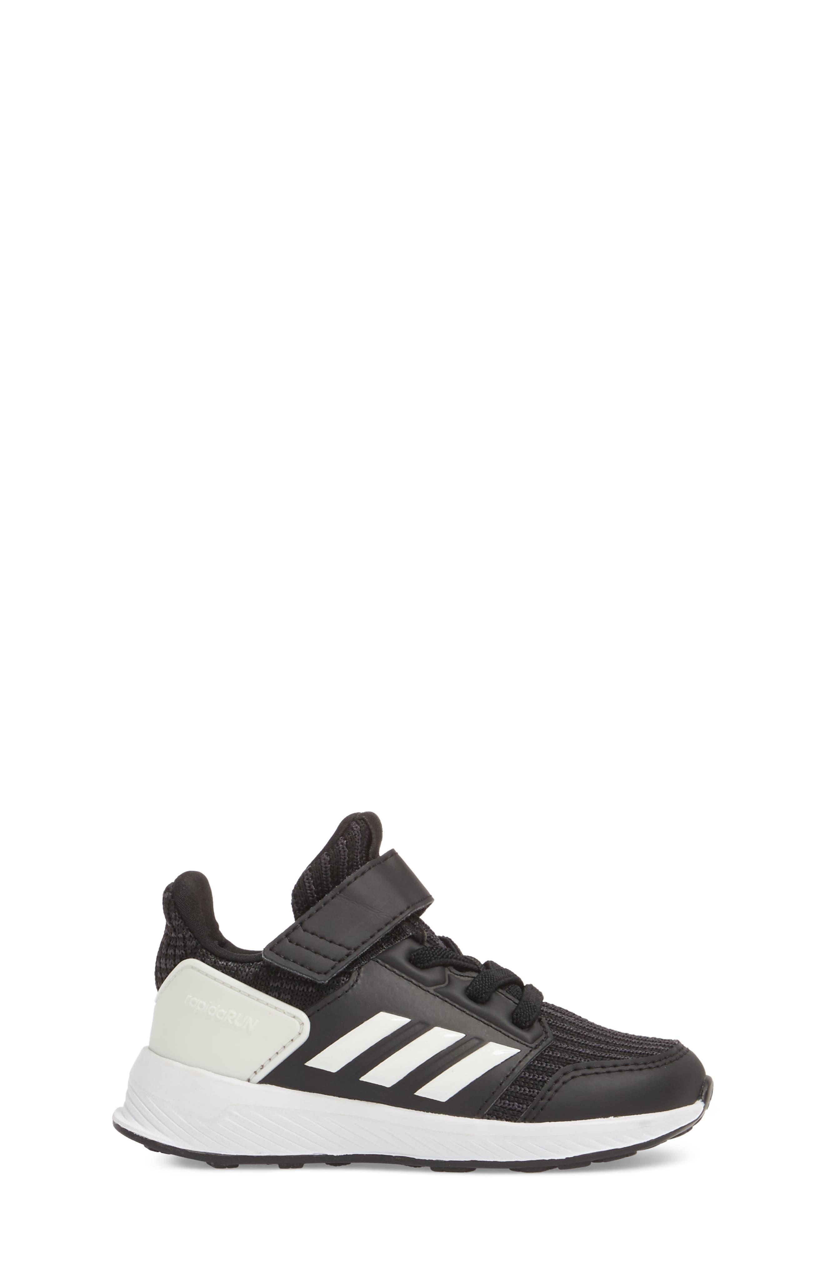 RapidaRun Knit Sneaker,                             Alternate thumbnail 3, color,                             BLACK/ WHITE