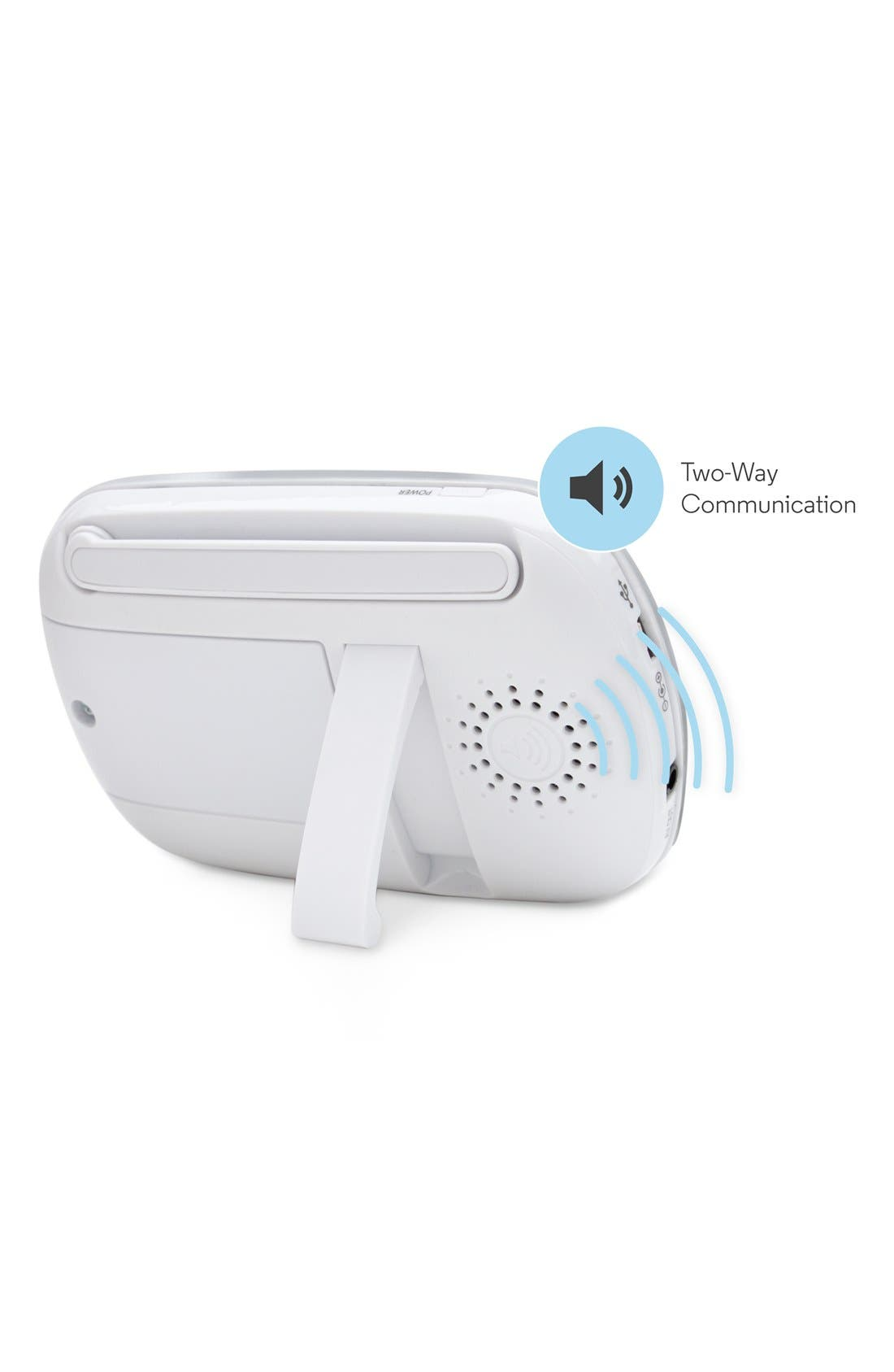 MBP 33S Wireless Digital Video Baby Monitor,                             Alternate thumbnail 6, color,                             WHITE/ SILVER TRIM