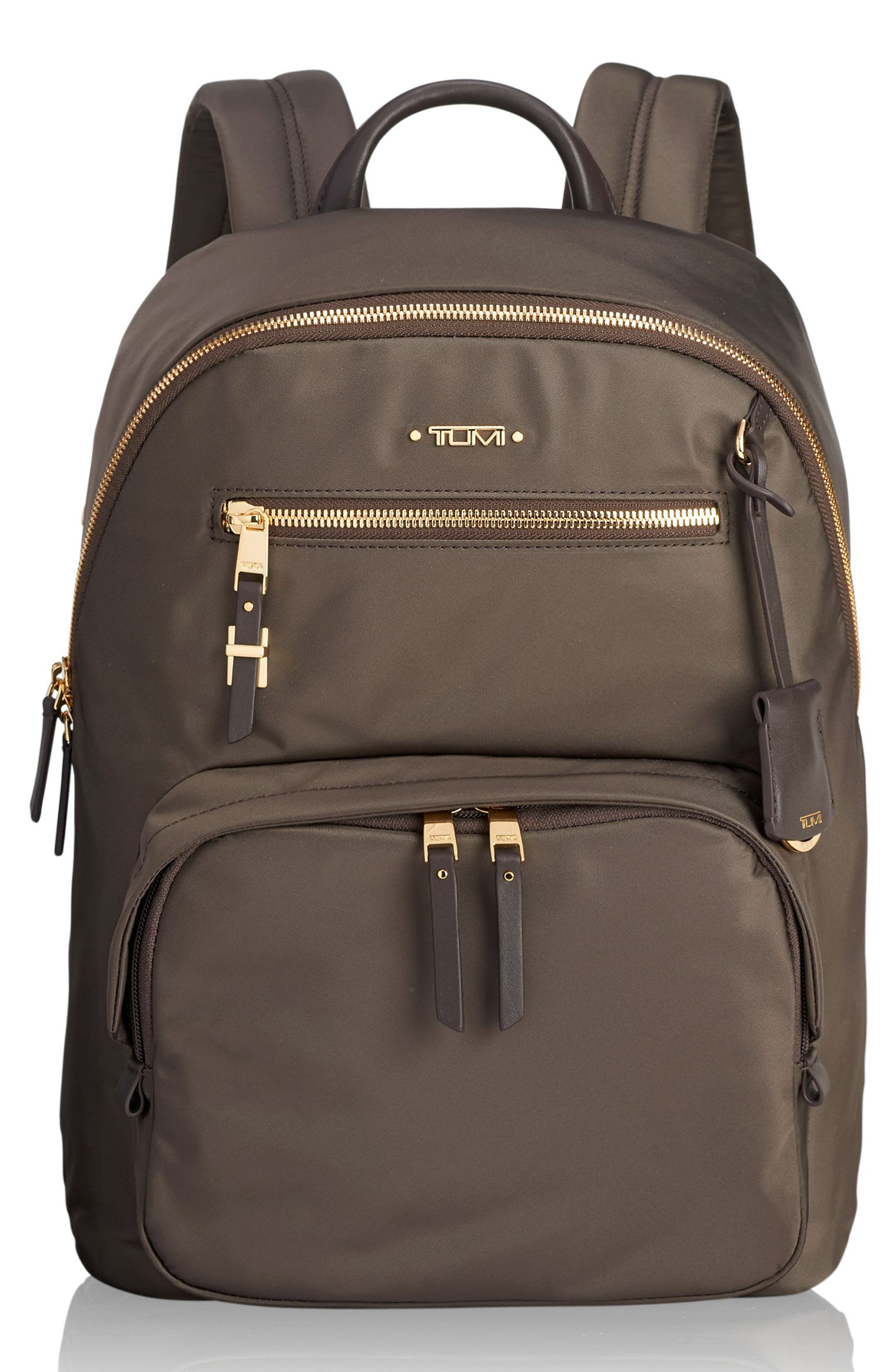 Voyageur Hagen Nylon Backpack - Brown in Mink