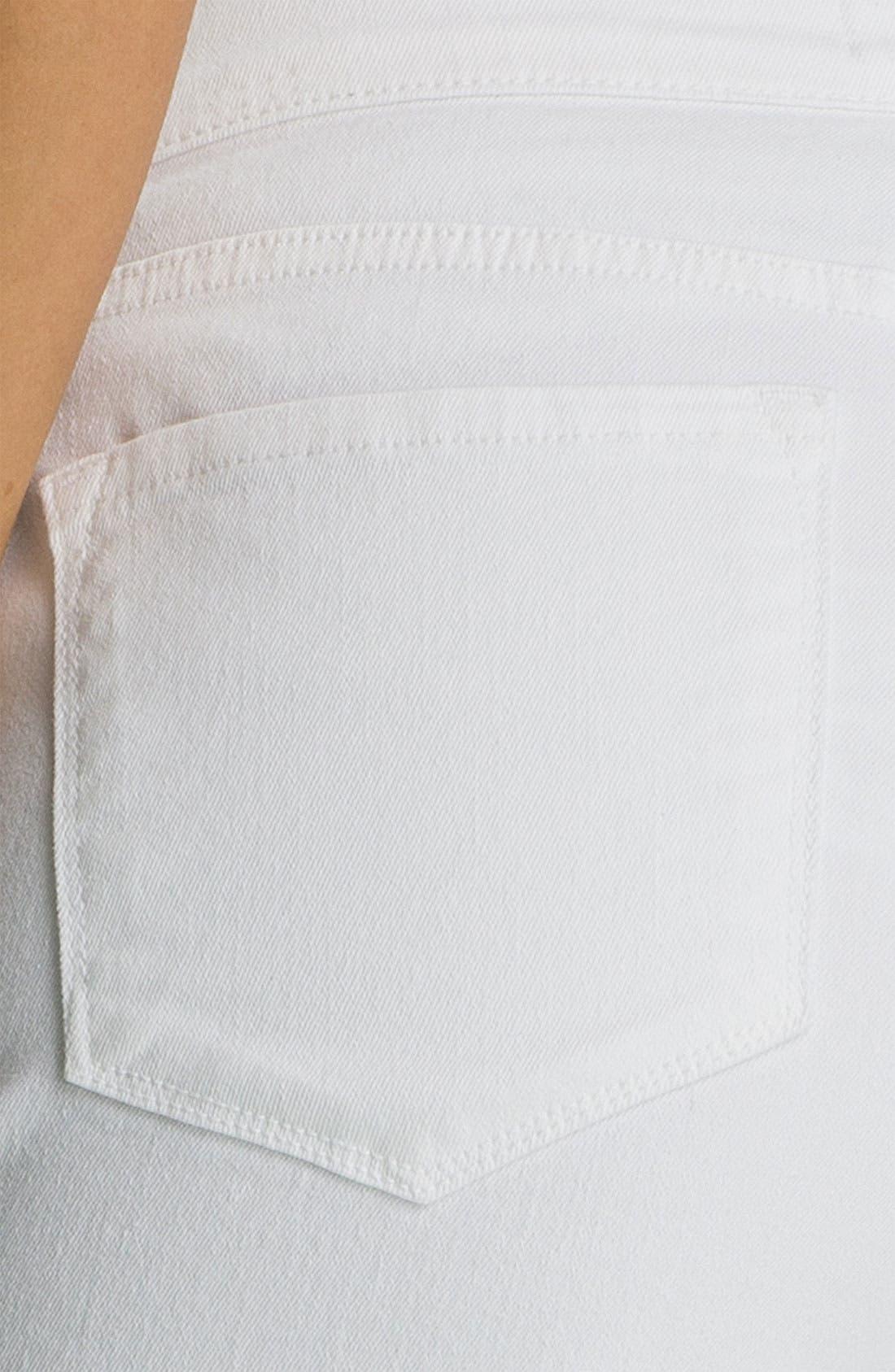 'Alyssia' Embellished Crop Jeans,                             Alternate thumbnail 3, color,                             103