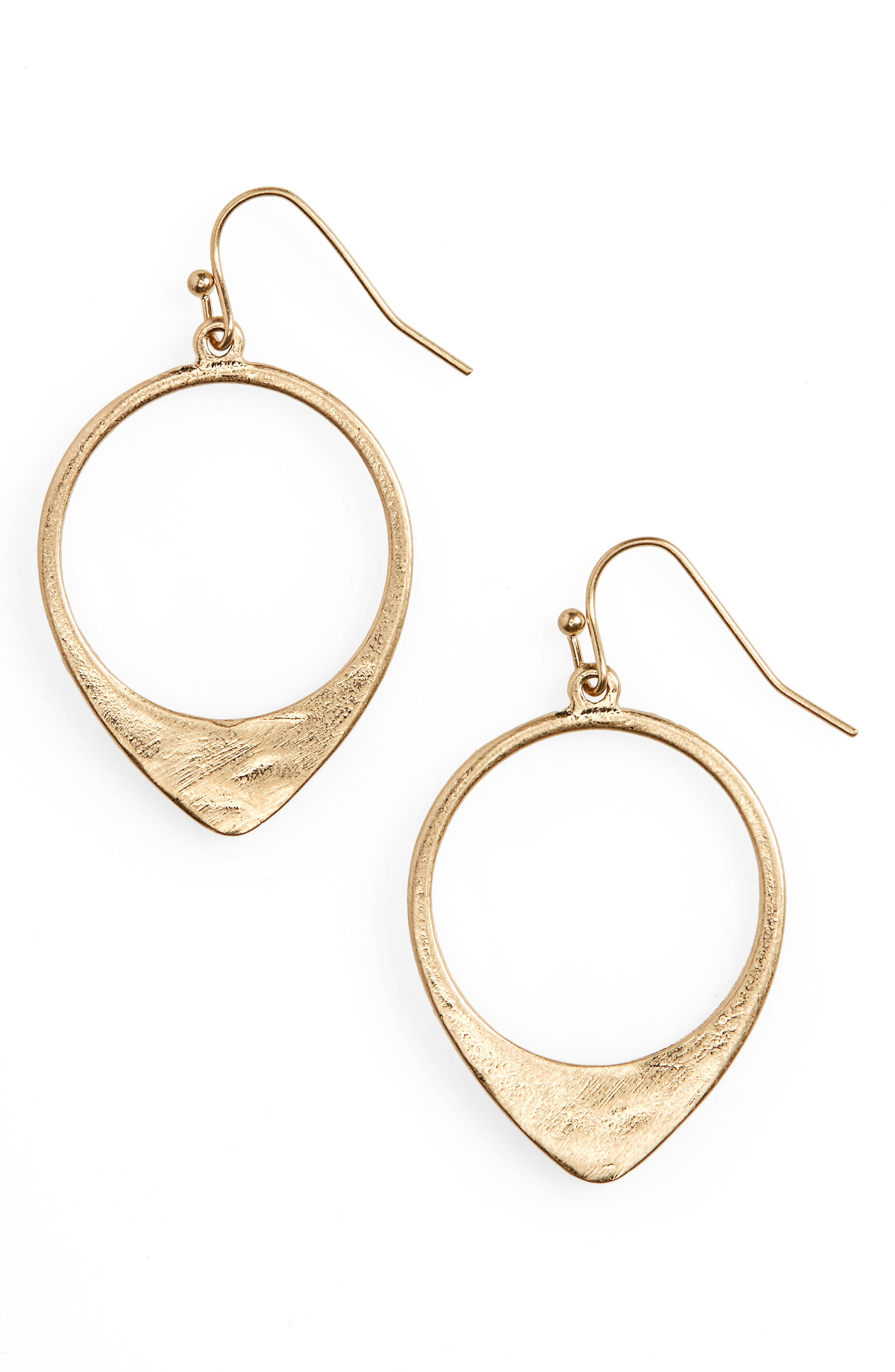 Frontal Open Hoop Earrings,                             Main thumbnail 1, color,                             710