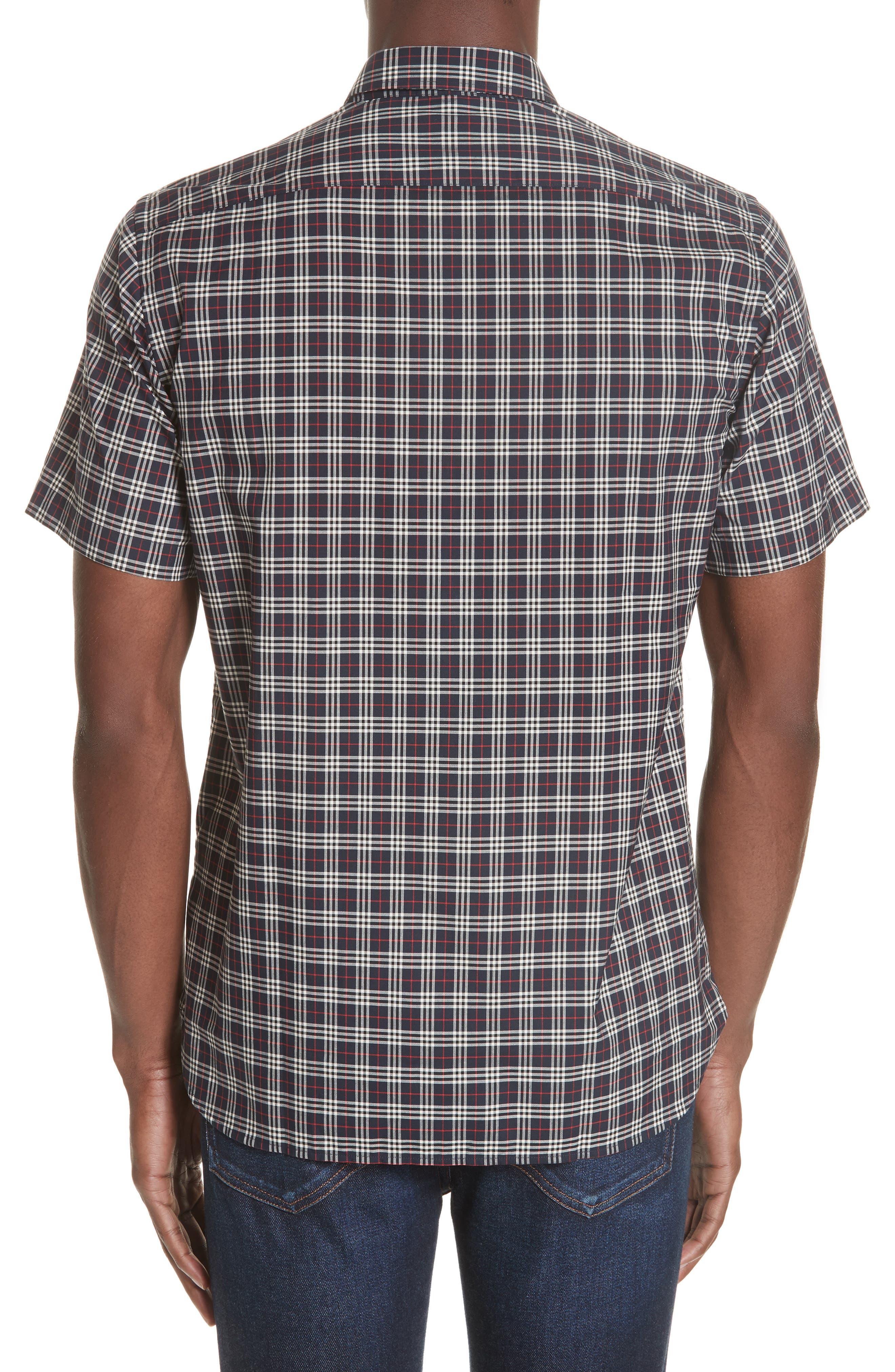 Edward Short Sleeve Shirt,                             Alternate thumbnail 3, color,                             400