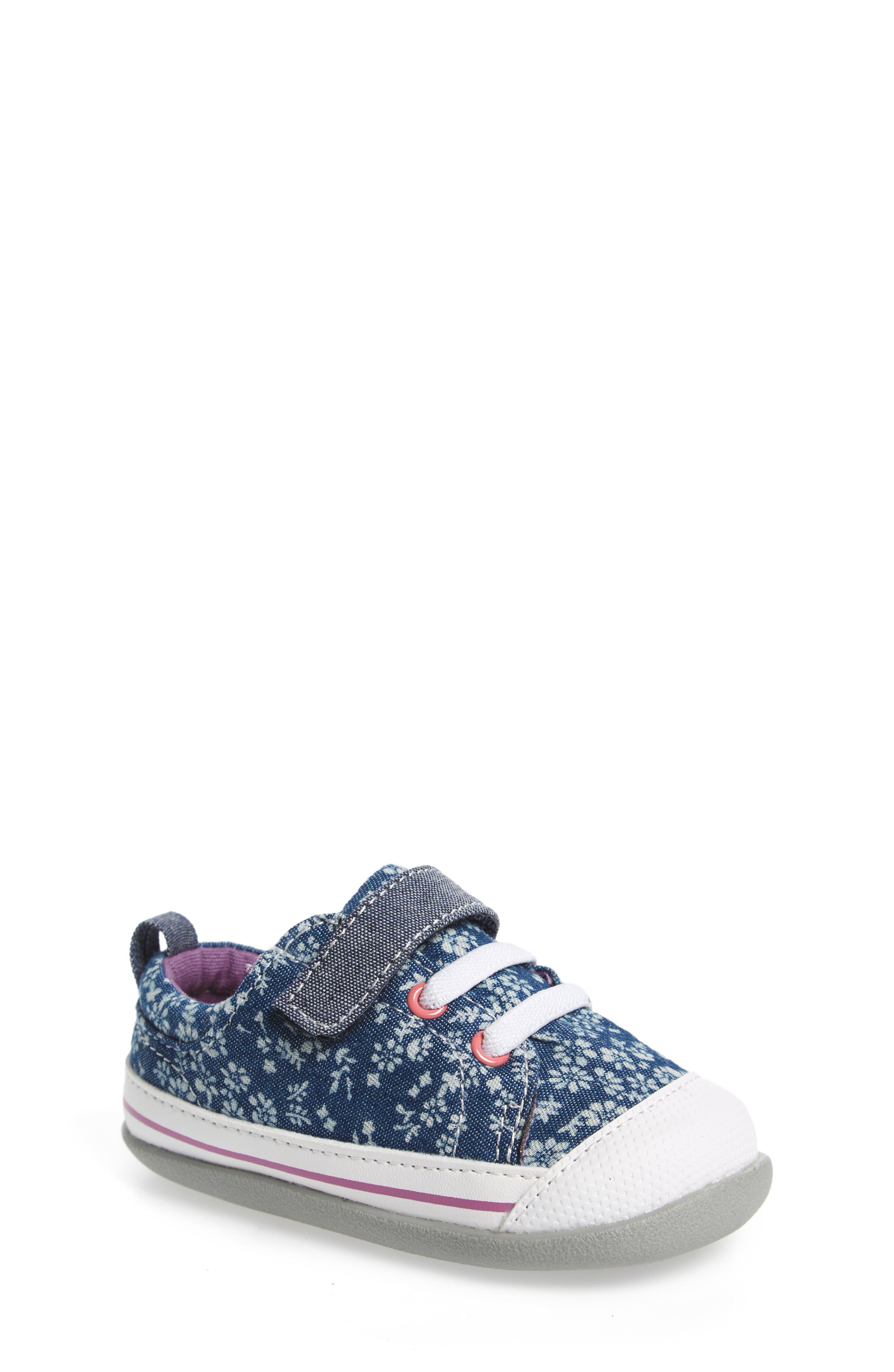 Stevie II Sneaker,                         Main,                         color, BLUE FLOWERS