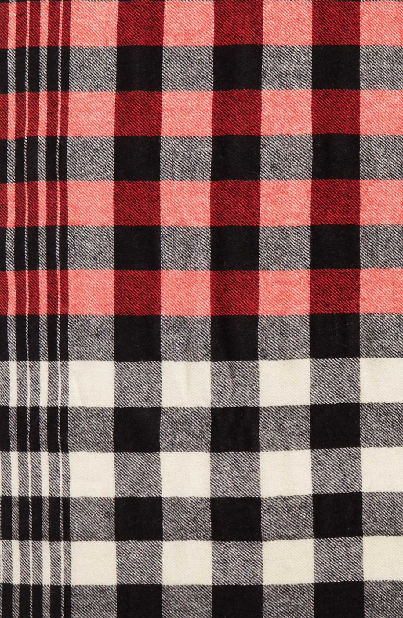 Checked Wool & Cashmere Scarf,                             Alternate thumbnail 4, color,