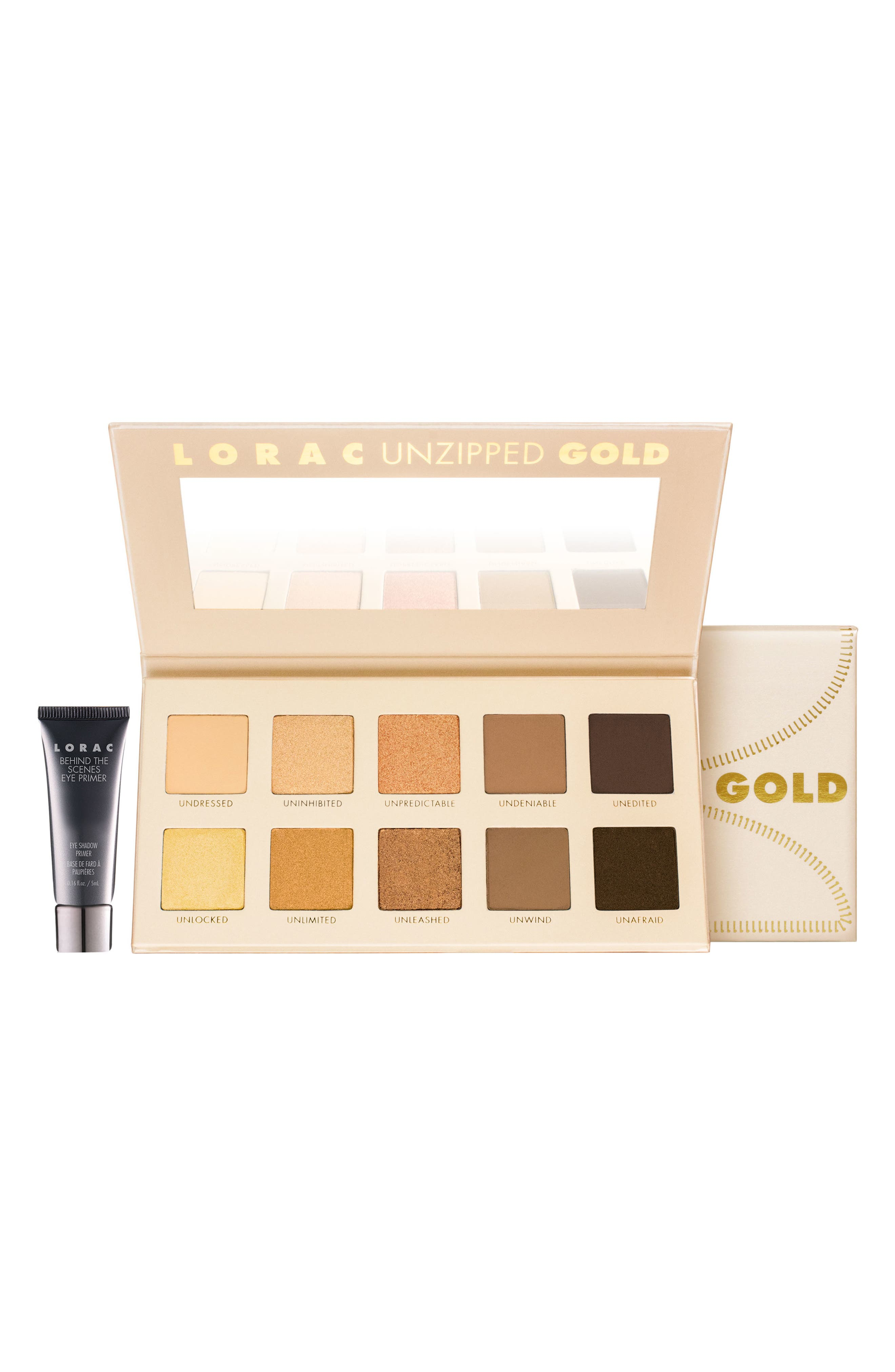 'Unzipped Gold' Eyeshadow Palette,                             Alternate thumbnail 5, color,                             NO COLOR