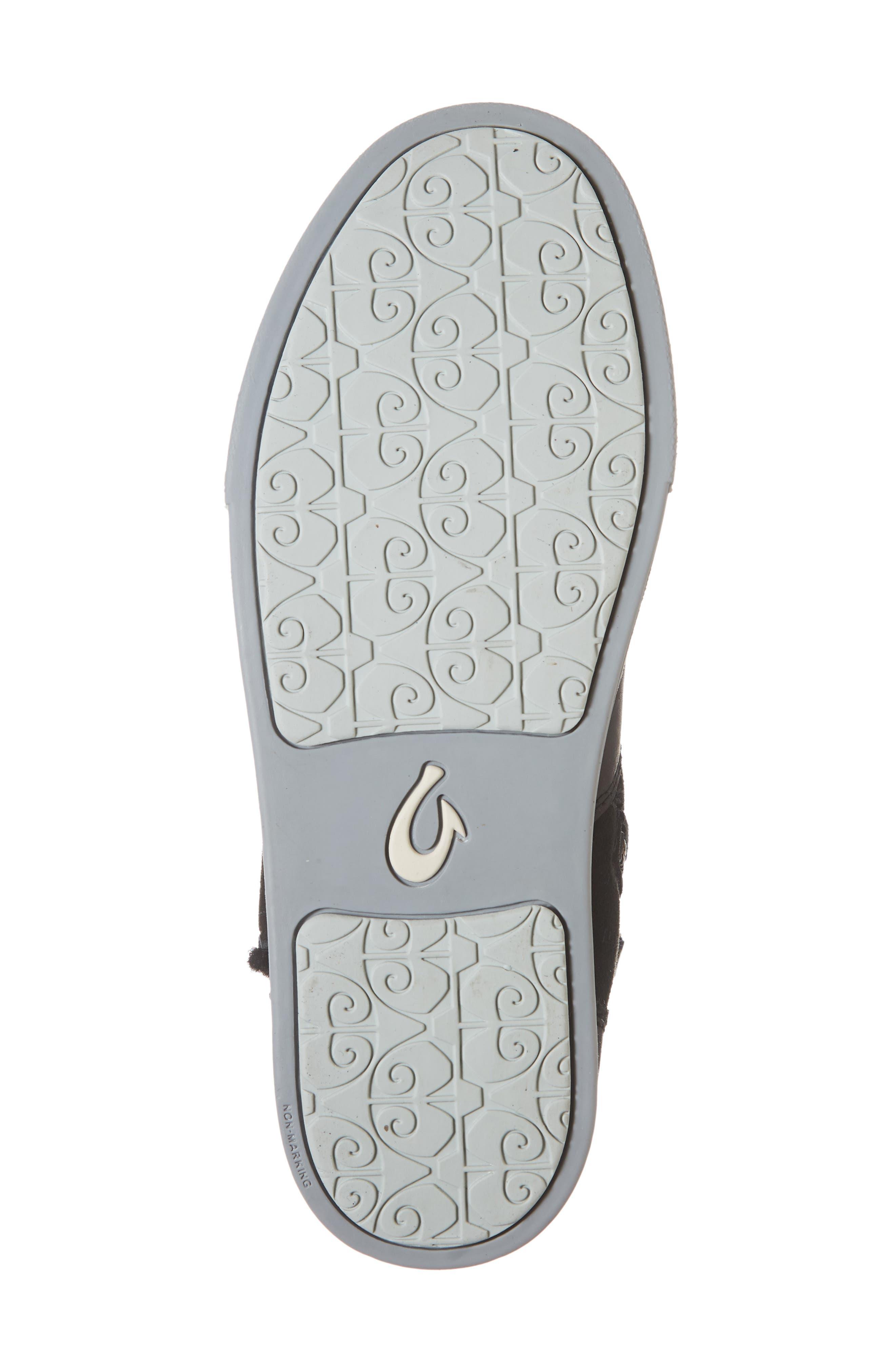 Pehuea Pa'I Genuine Shearling Sneaker Boot,                             Alternate thumbnail 6, color,                             BLACK/ BLACK LEATHER