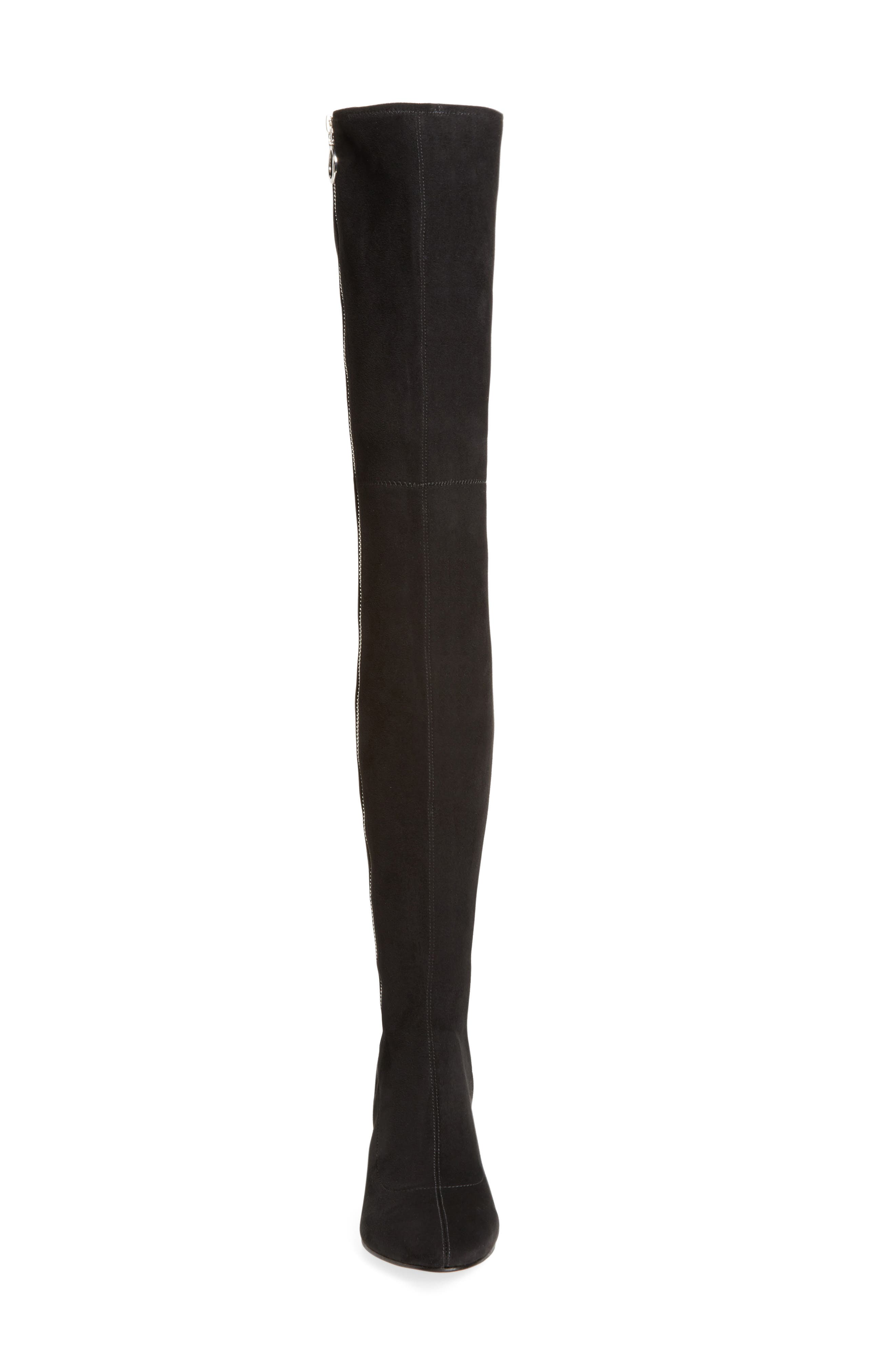 Vix Thigh High Boot,                             Alternate thumbnail 4, color,                             001