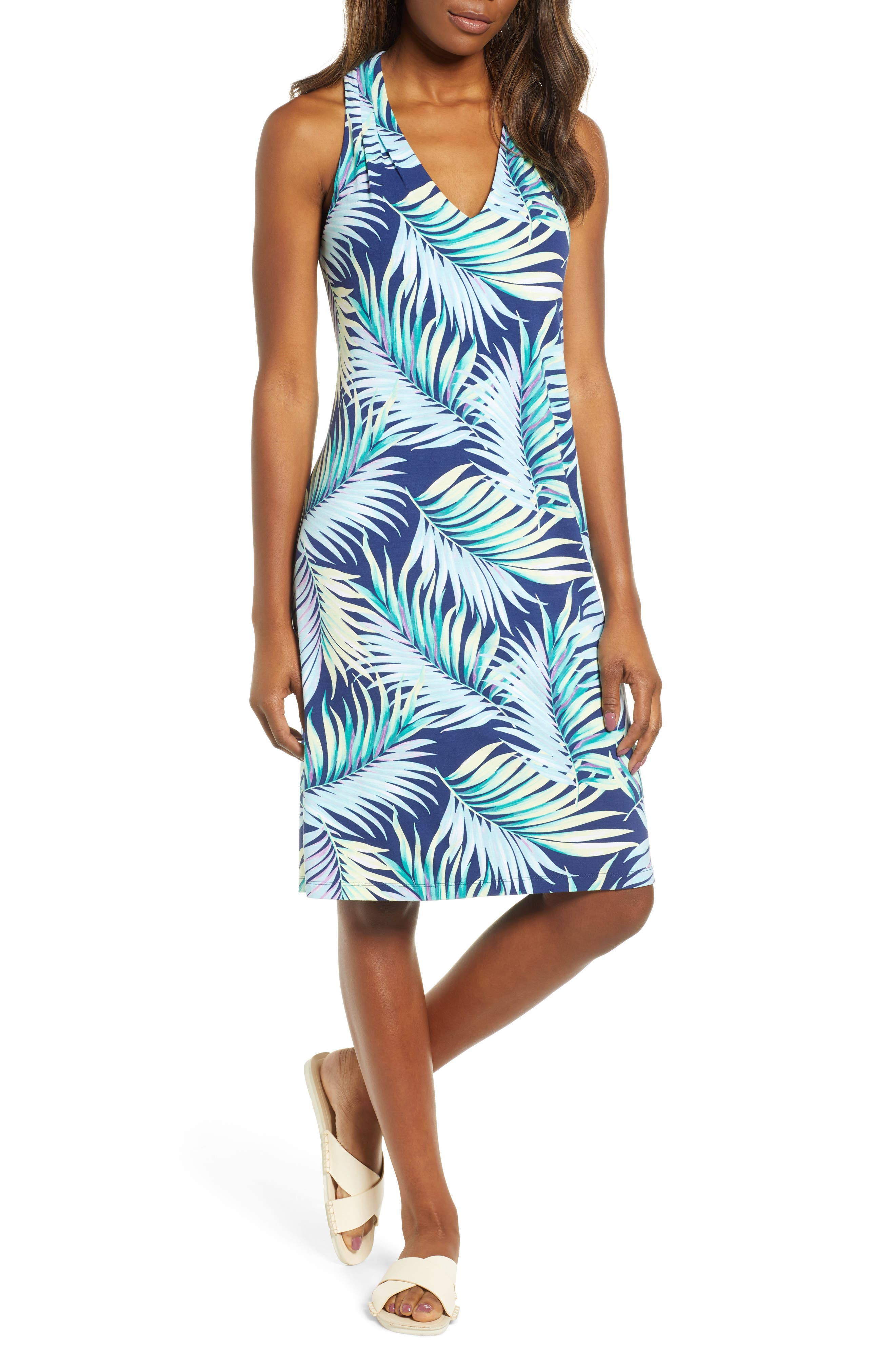 Leinani Leaves Dress,                             Main thumbnail 1, color,                             400