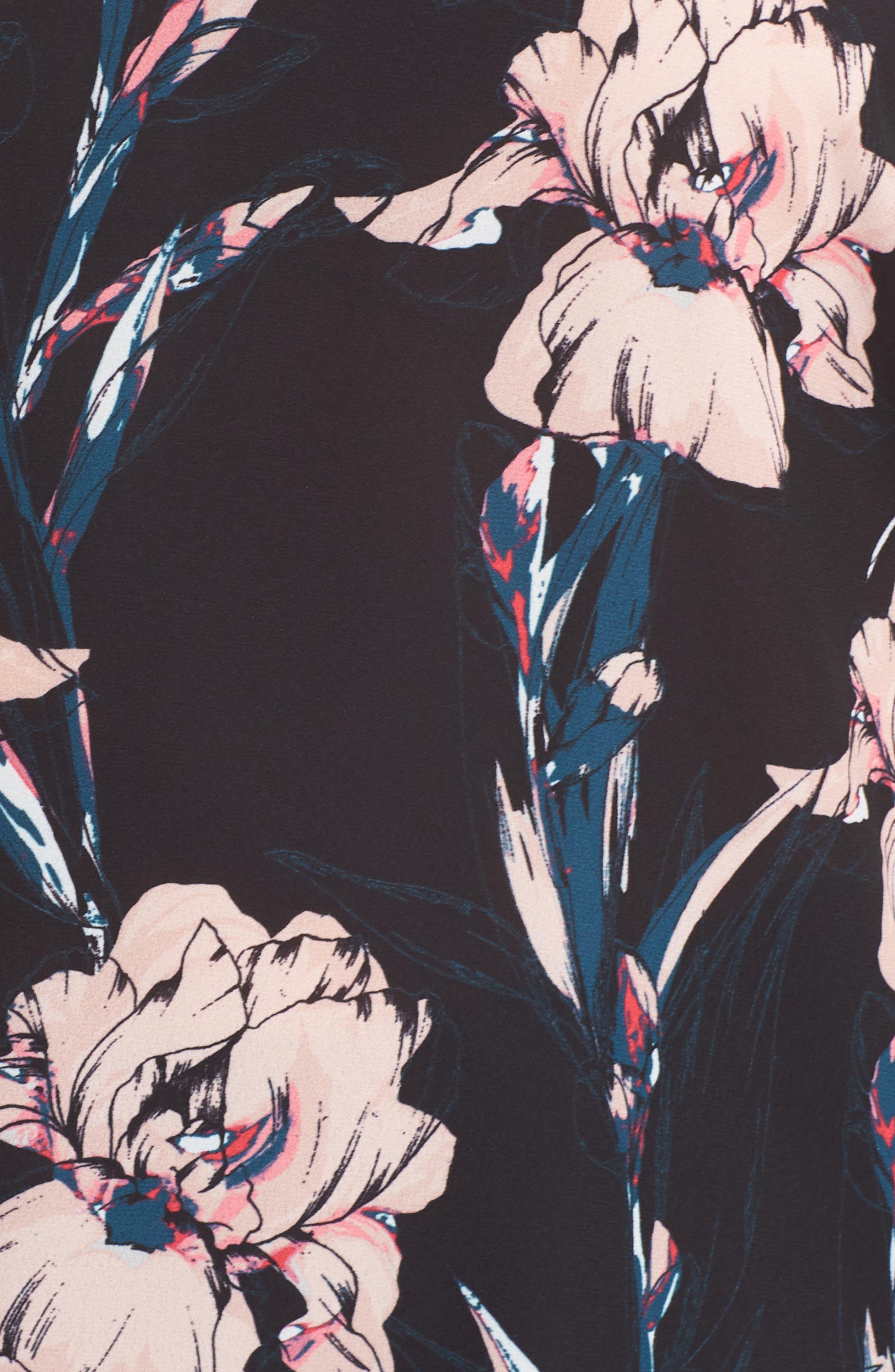 Lace Trim Camisole,                             Alternate thumbnail 5, color,                             BLACK INKED IRIS